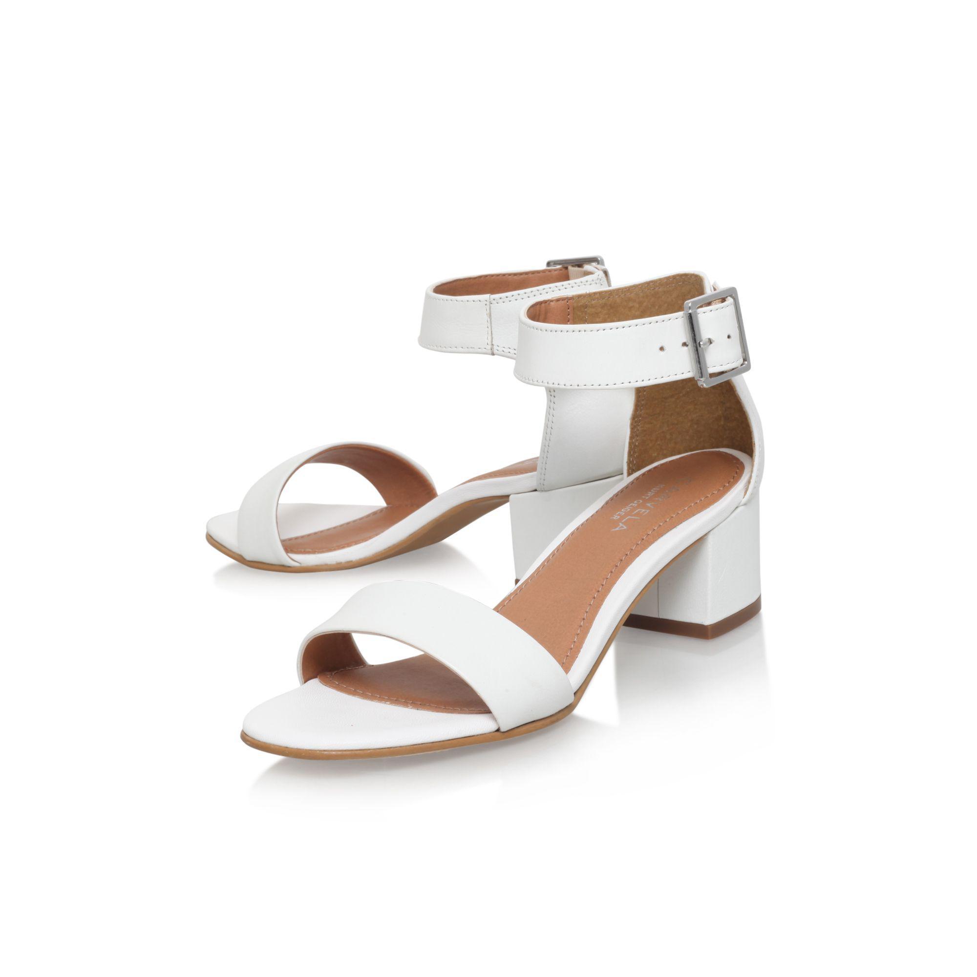 62f5a95fbc88 Carvela Kurt Geiger - White  shadow  High Heel Sandals - Lyst. View  fullscreen