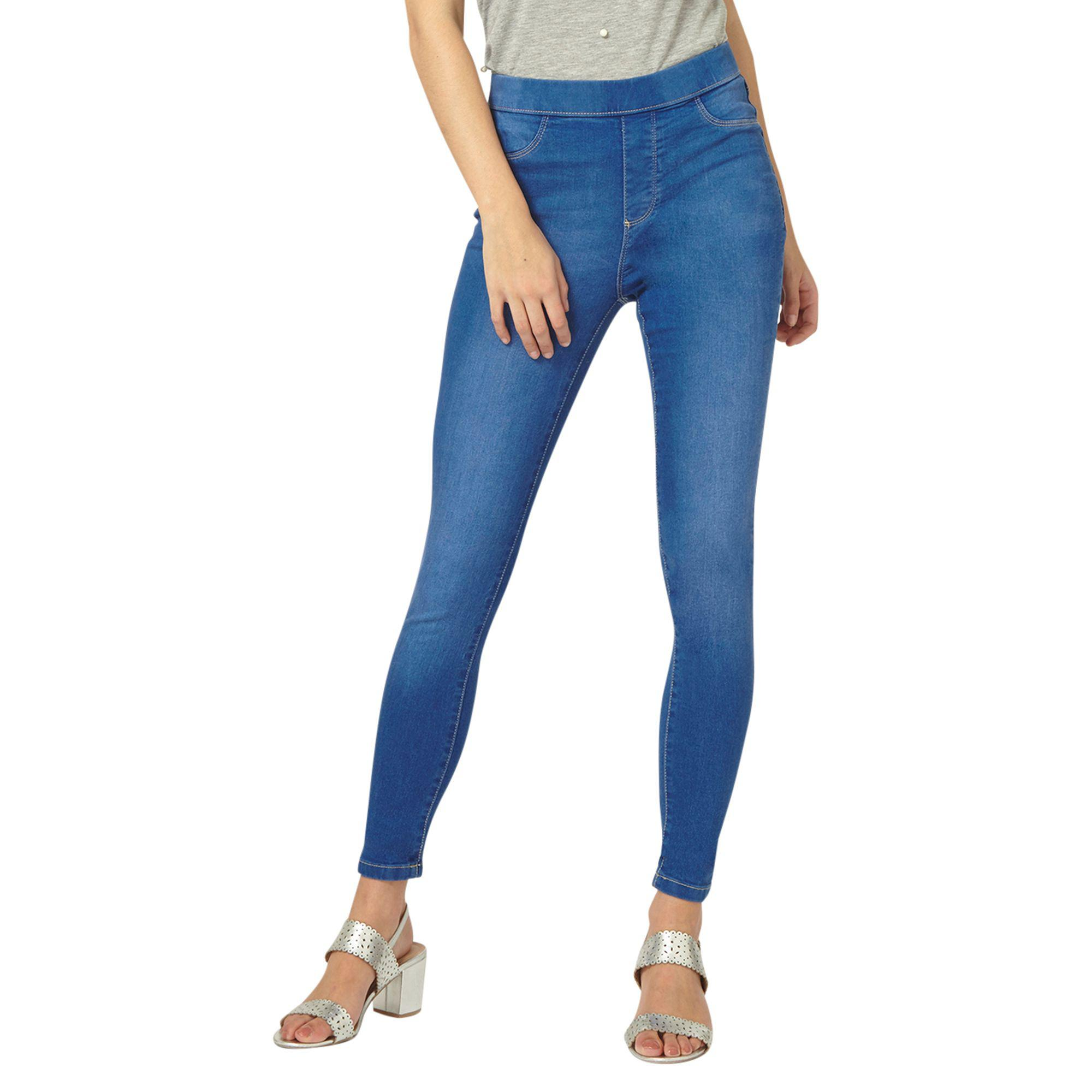 507c6a2d5a3 Dorothy Perkins Tall Bright Blue Eden Crop Jeggings in Blue - Lyst