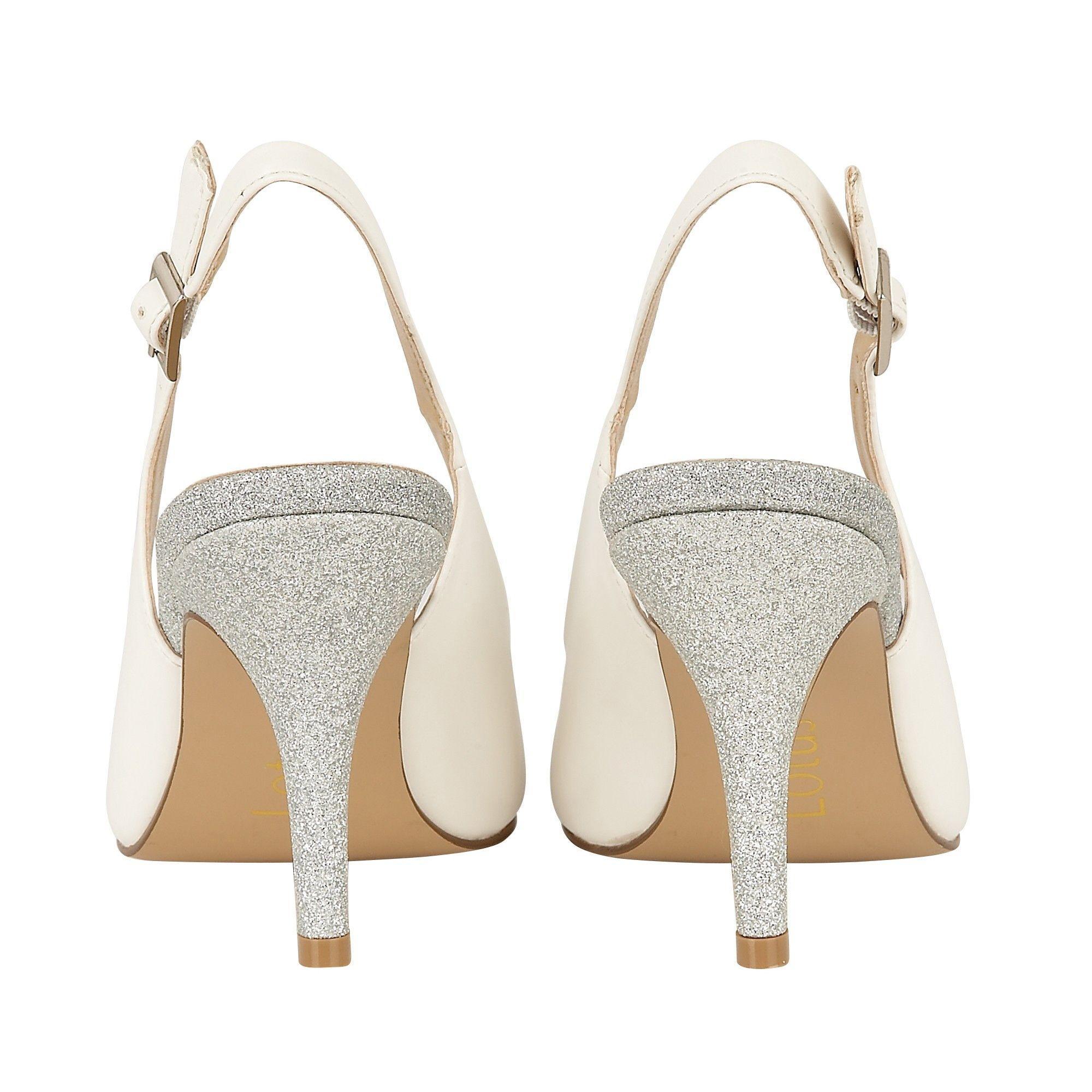 ab468272cf Lotus - White Glitter 'arlind' High Stiletto Heel Slingbacks - Lyst. View  fullscreen