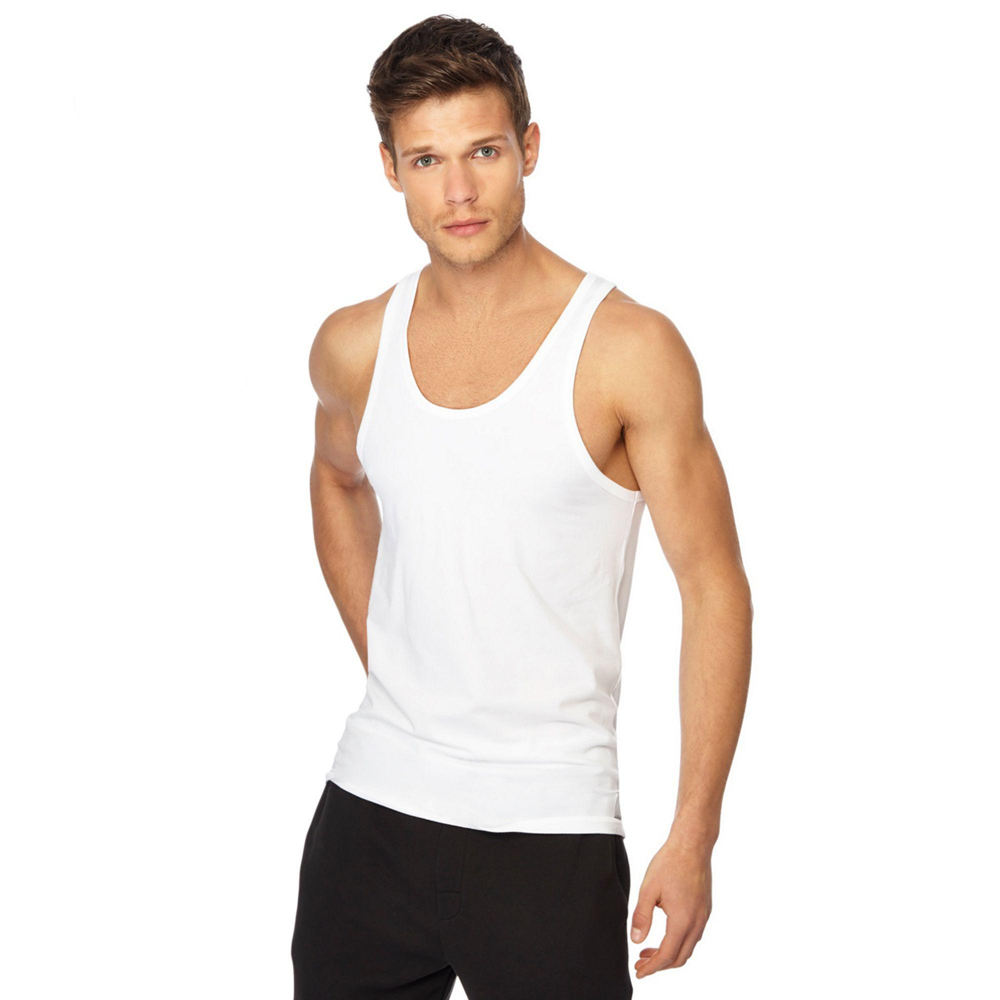 ee8dfb6d2b Calvin Klein Set Of 2 White Regular Fit Tank Tops in White for Men ...