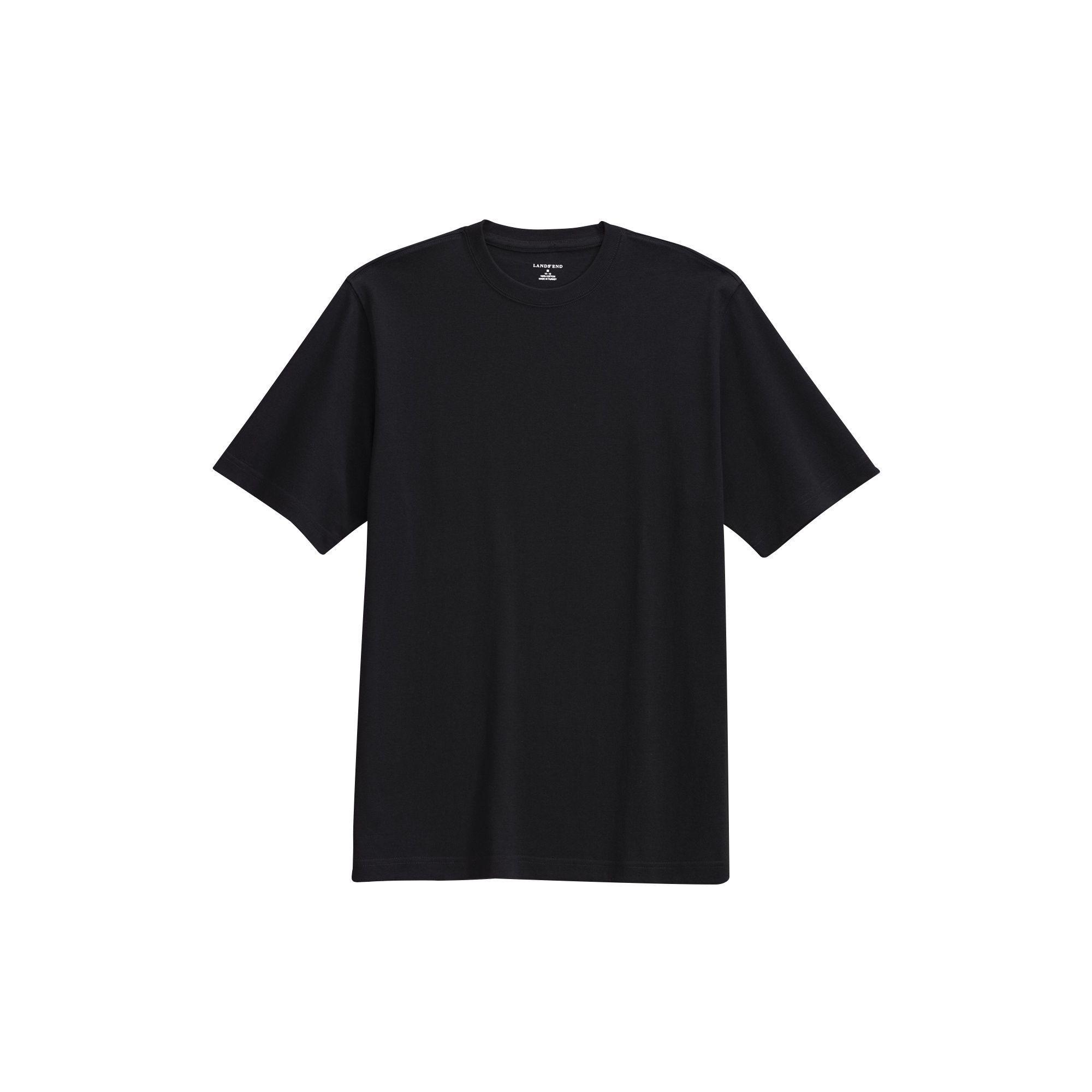 Lands  End Black Short Sleeve Super T-shirt in Black for Men - Lyst 9f4ee1d386f