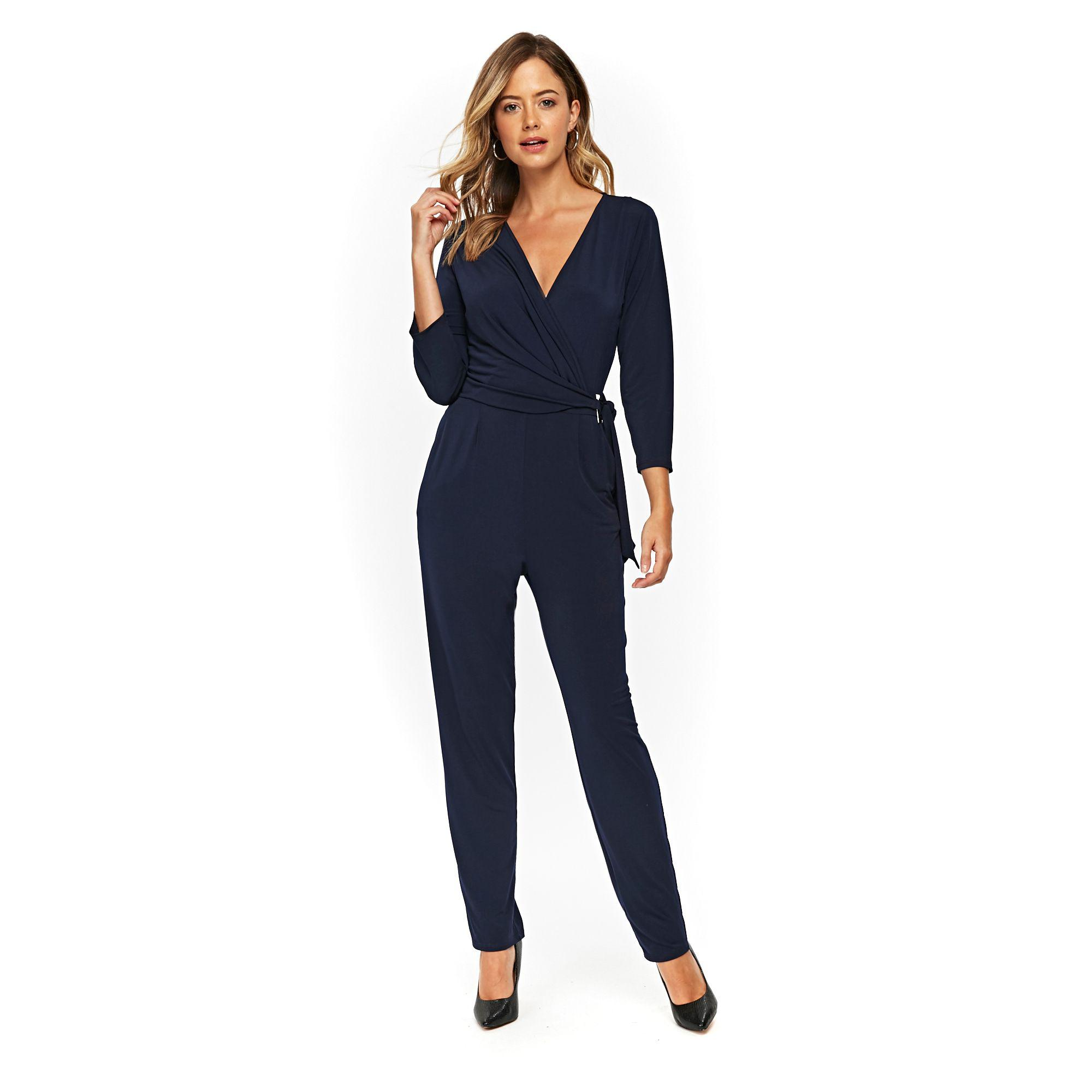 743cd61fd01a Wallis D-ring Long Sleeved Jumpsuit in Blue - Lyst