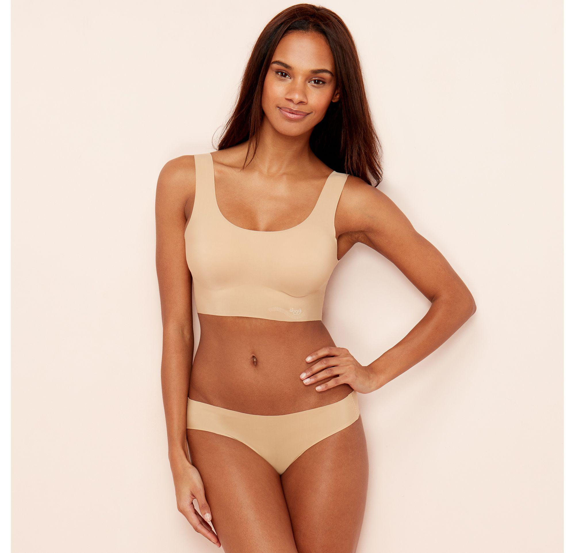 2796a6b6cb Sloggi Nude Zero Feel Non-wired Padded Crop Top in Natural - Lyst