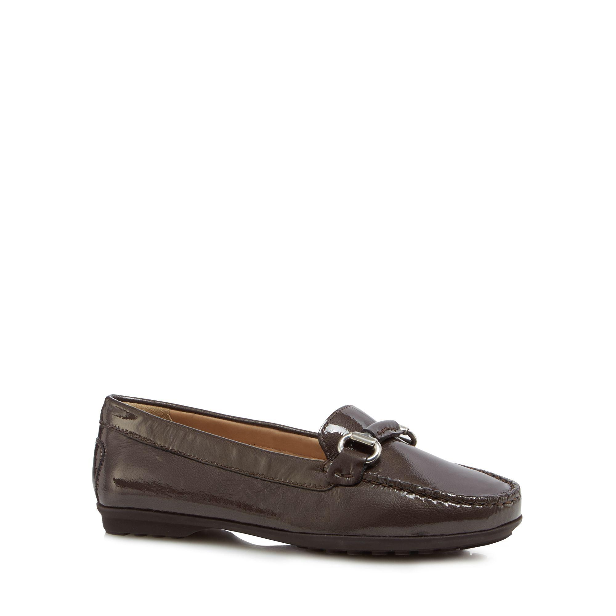 Dark brown leather 'Elidia' loafers 2014 cheap online clearance hot sale cheap sale nicekicks clearance shop cheap sale low shipping fee WFZ5IukZs