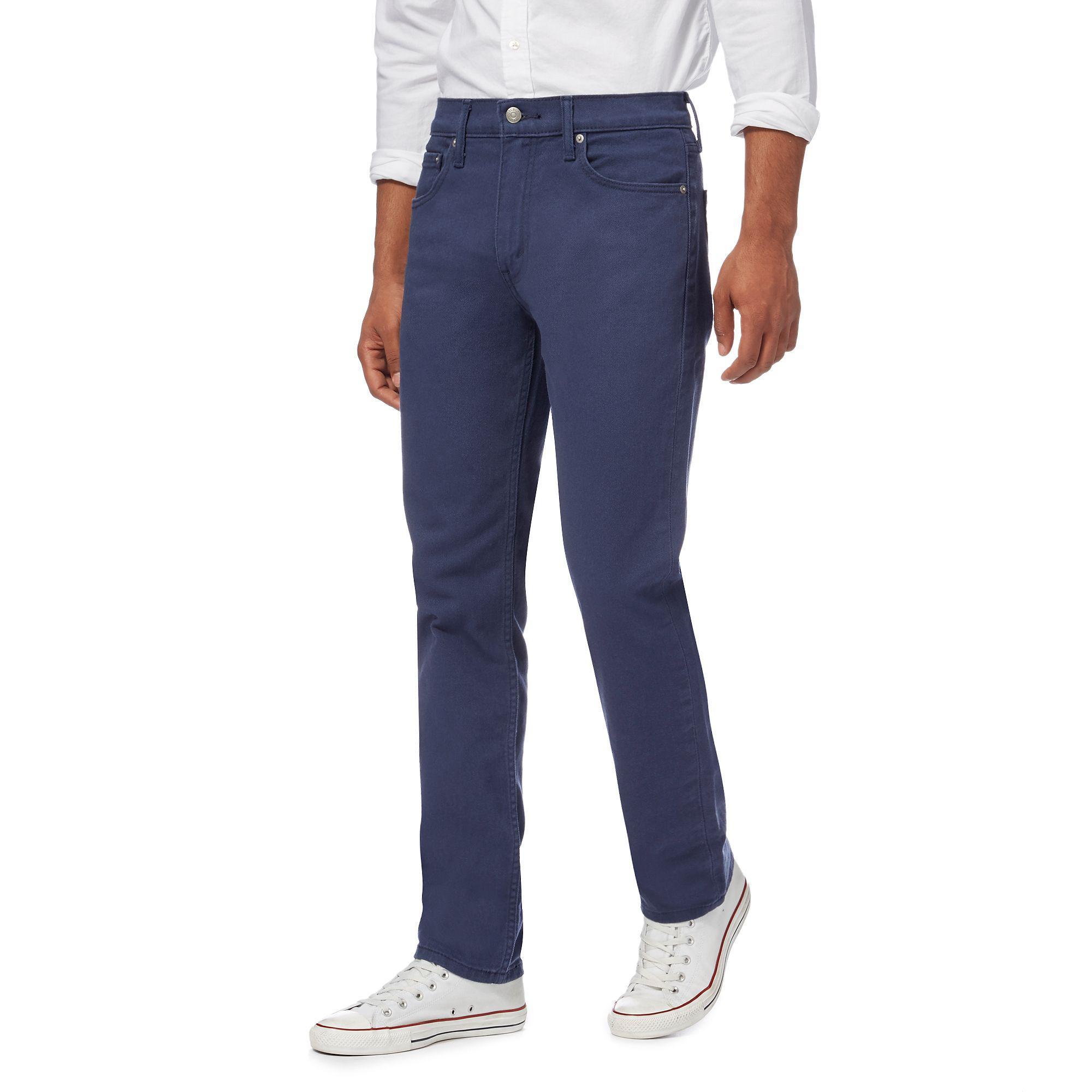 e2ed00e6147 Levi's Navy '511®' 'twill' Slim Jeans in Blue for Men - Lyst