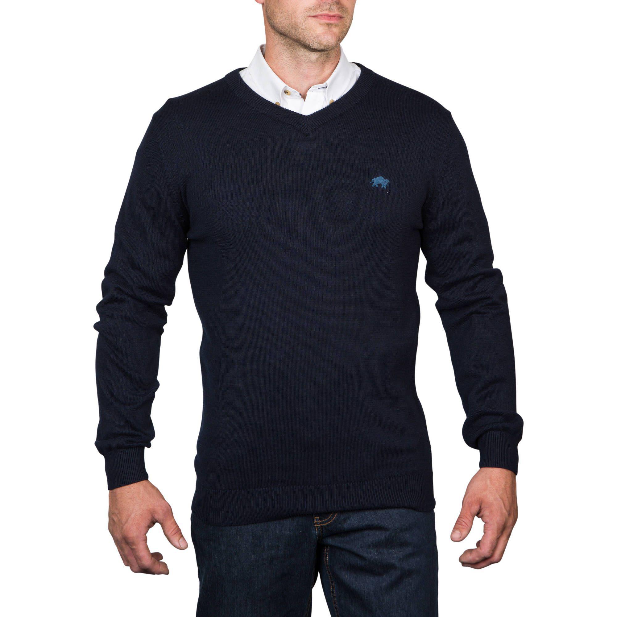 62f5730026bda0 ... Raging Bull - Blue V-neck Cotton/cashmere Sweater Navy for Men - Lyst.  Visit Debenhams. Tap to visit site