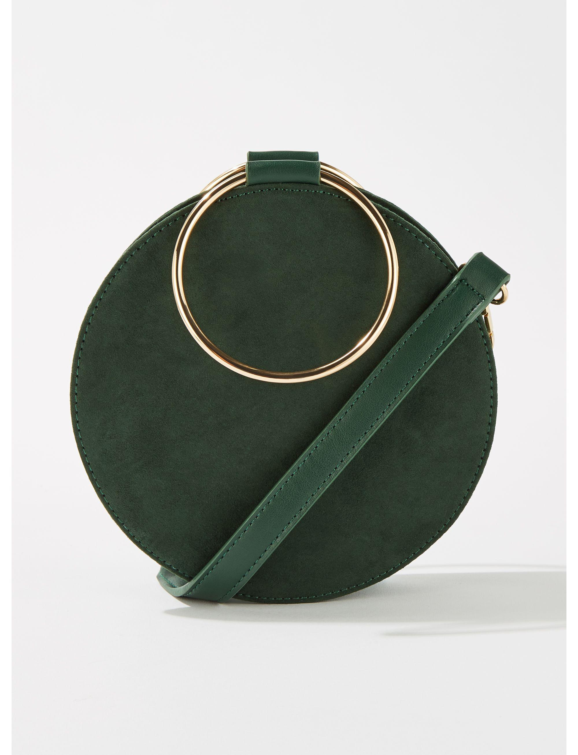 Miss Selfridge Metal Round Cross Over Bag in Green - Lyst faacbde9b3a43