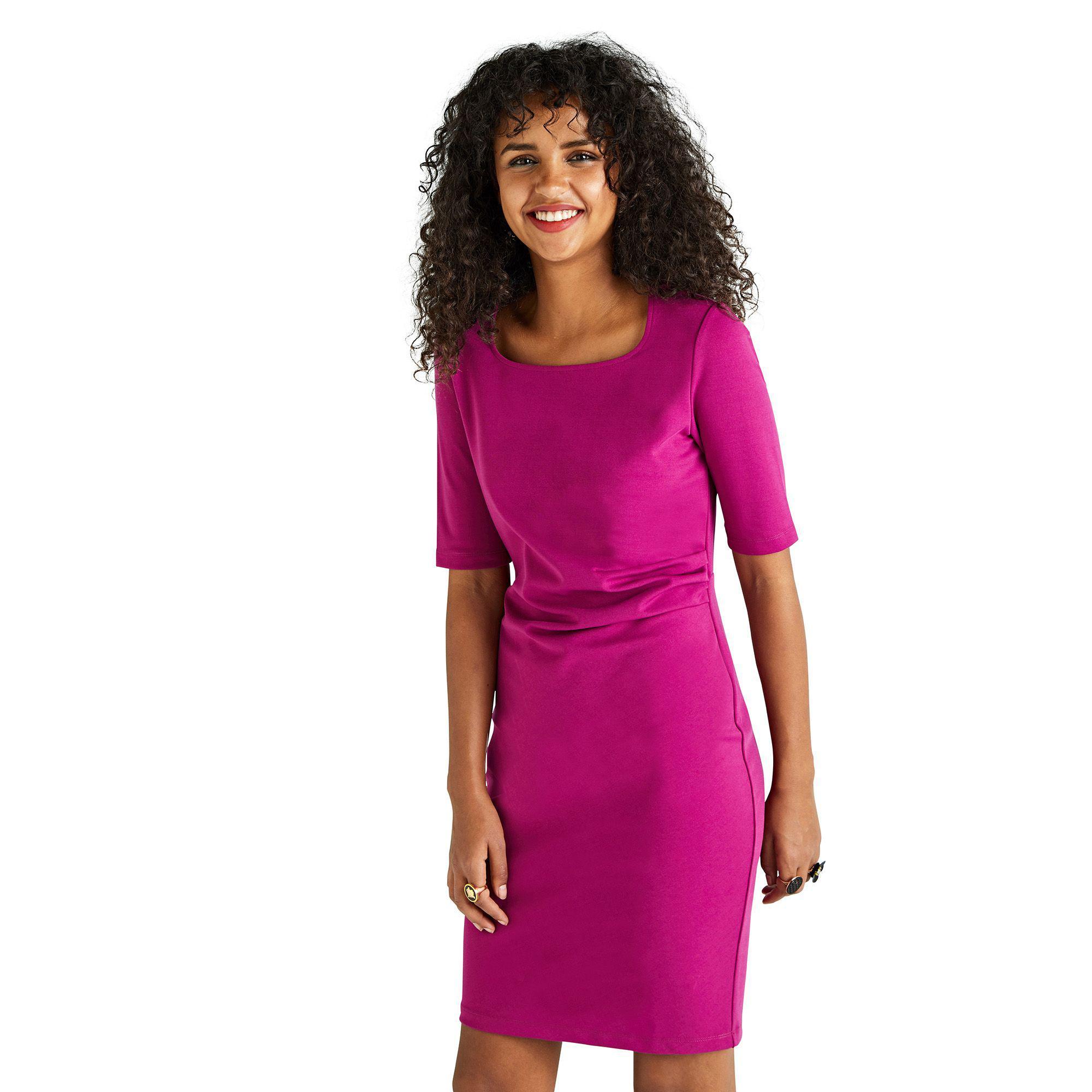 0b7944243f1 Yumi  Pink Ponte  eden  Bodycon Dress in Pink - Lyst
