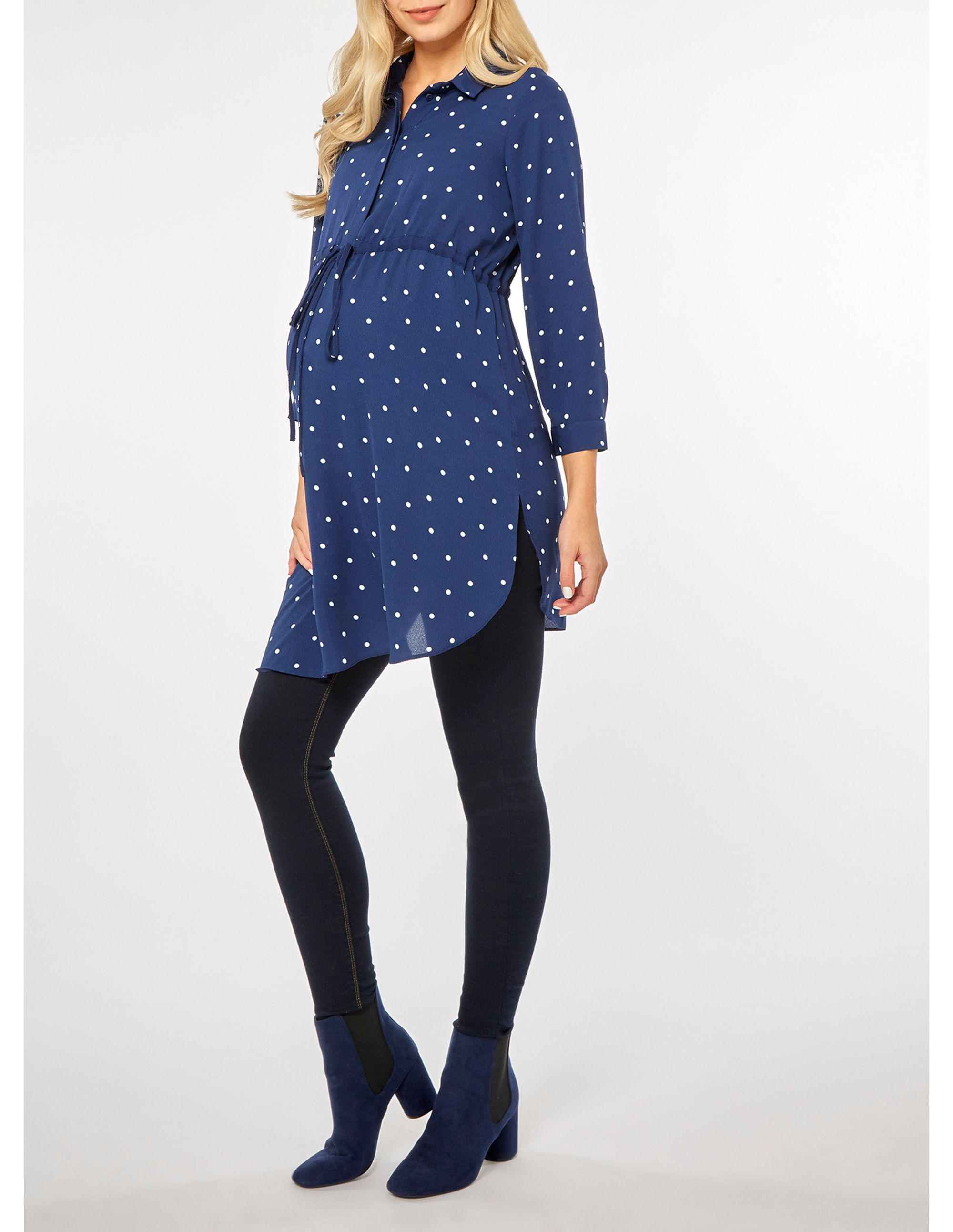 131332a4f21ba dorothy-perkins-Blue-Maternity-Navy-Spot-Channel-Waist-Tunic-Top.jpeg