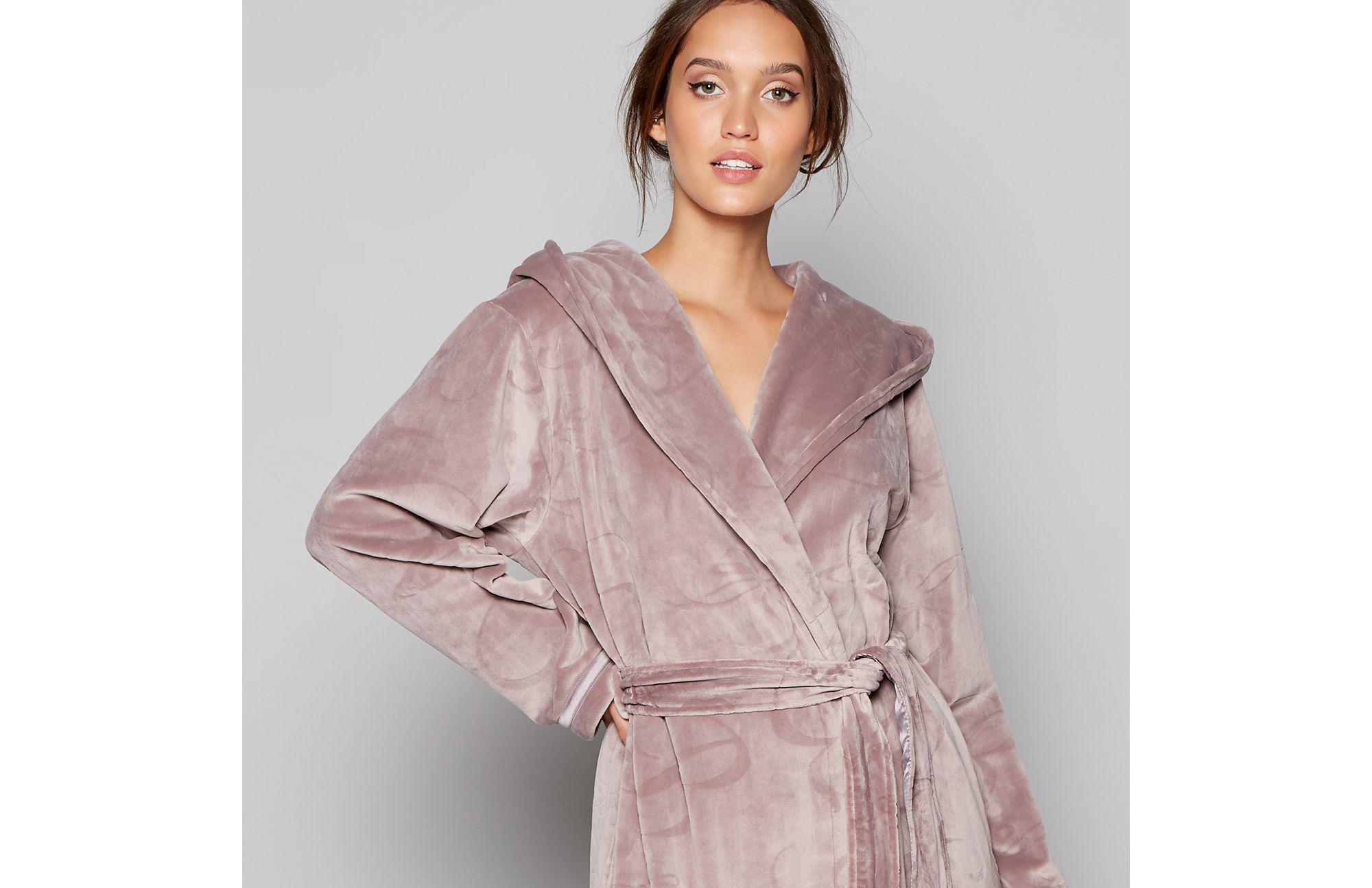 9bc7086d4 Ted Baker Fawn Embossed Bow Dressing Gown - Lyst