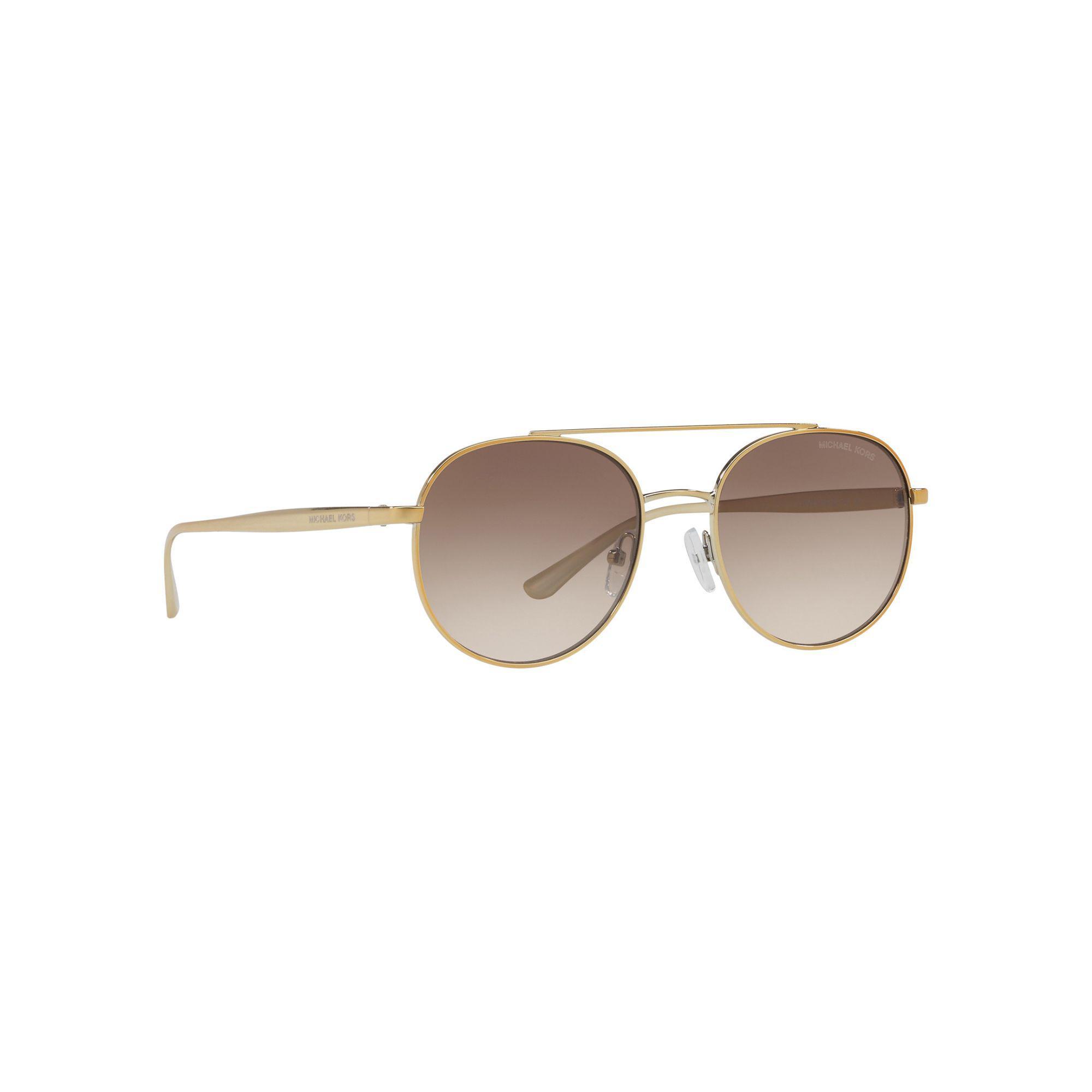 8aac7dc4f Michael Kors - Metallic Gold Tone 'lon' Pilot Mk1021 Sunglasses - Lyst.  View fullscreen