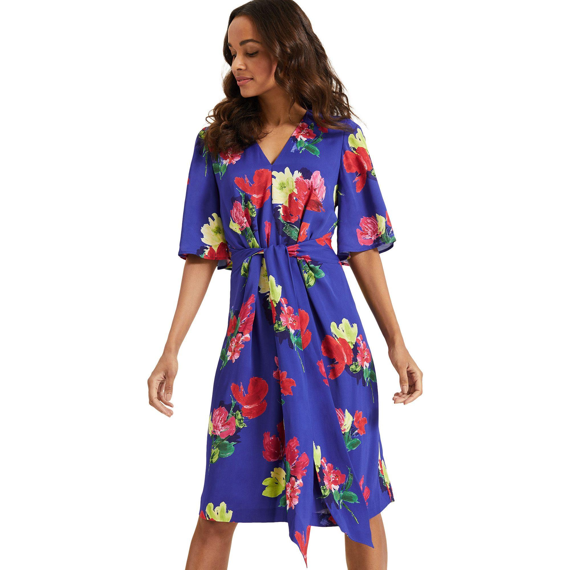 7ed6da67d627b Phase Eight Darcy Printed Kimono Dress in Blue - Lyst