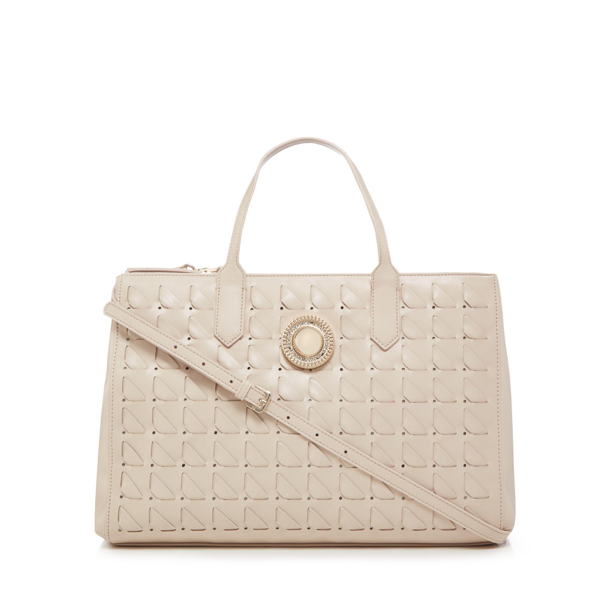 Versace Jeans Cream Interlace Shoulder Bag in Natural - Lyst c47146d13f90b