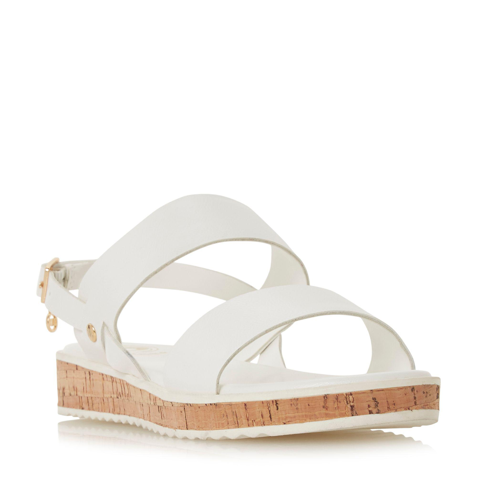 2dd0f03c79d Dune White  luminere  Mid Ankle Strap Sandals in White - Lyst
