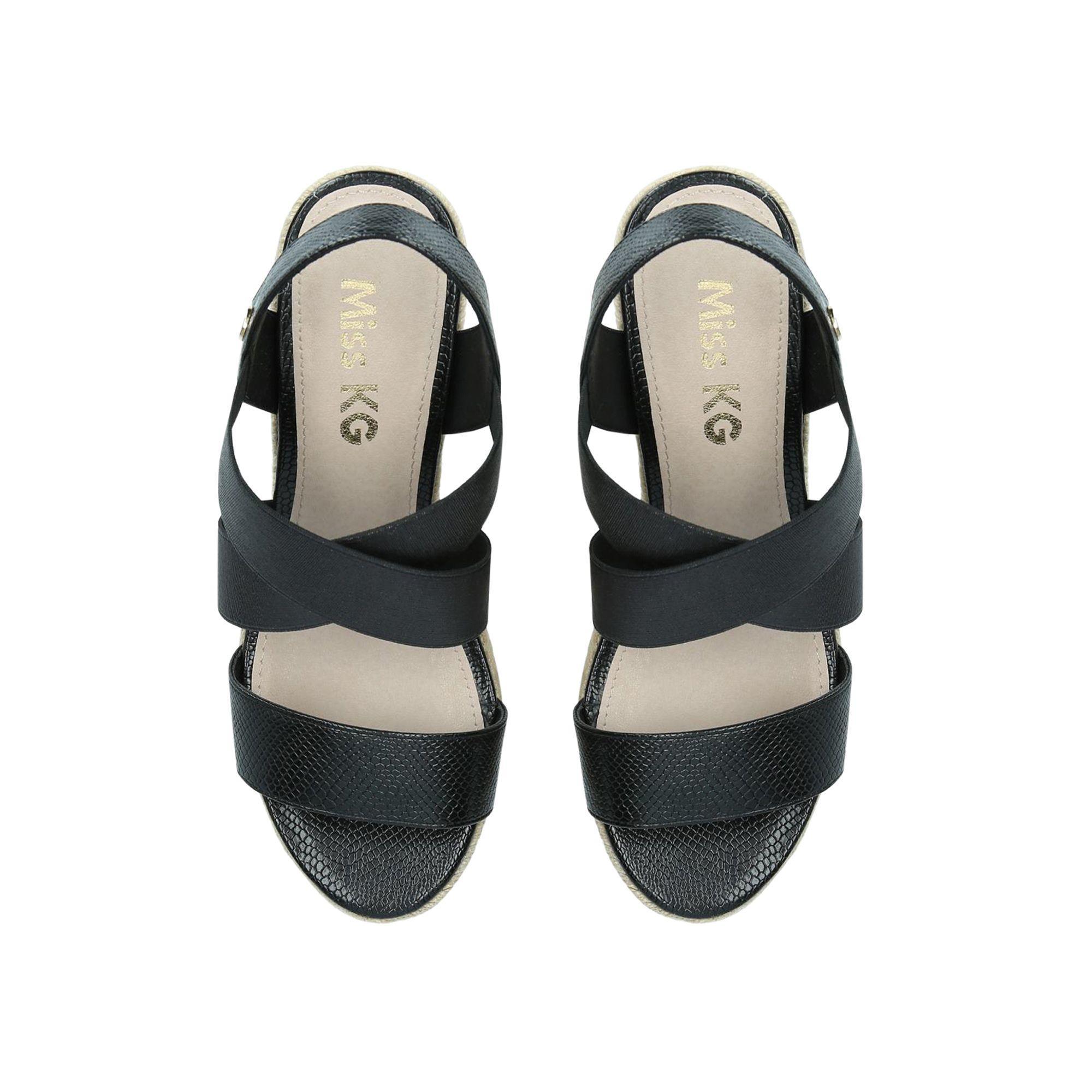 2d618753420 Miss Kg - Black  daffodil  Mid Heel Wedge Sandals - Lyst. View fullscreen