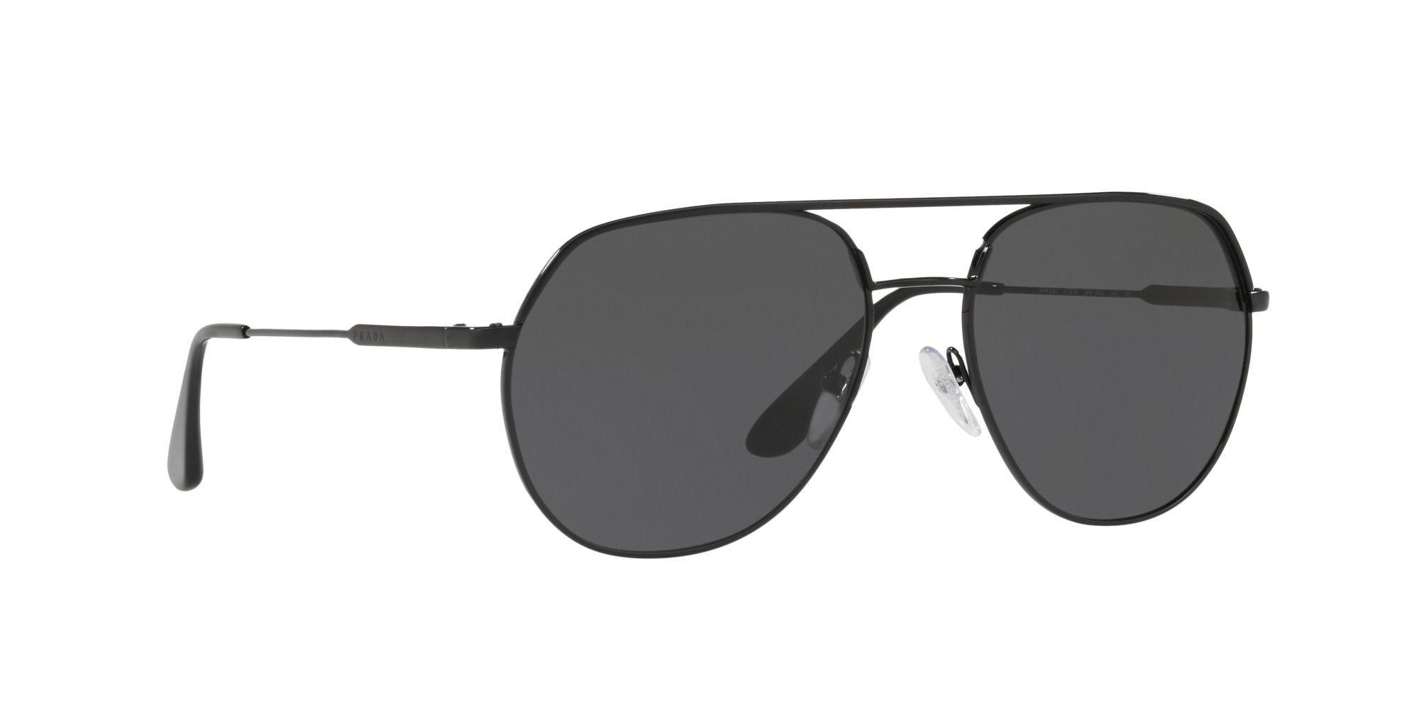 8182d373e2d Prada Black 0pr 55us Irregular Sunglasses in Black for Men - Lyst