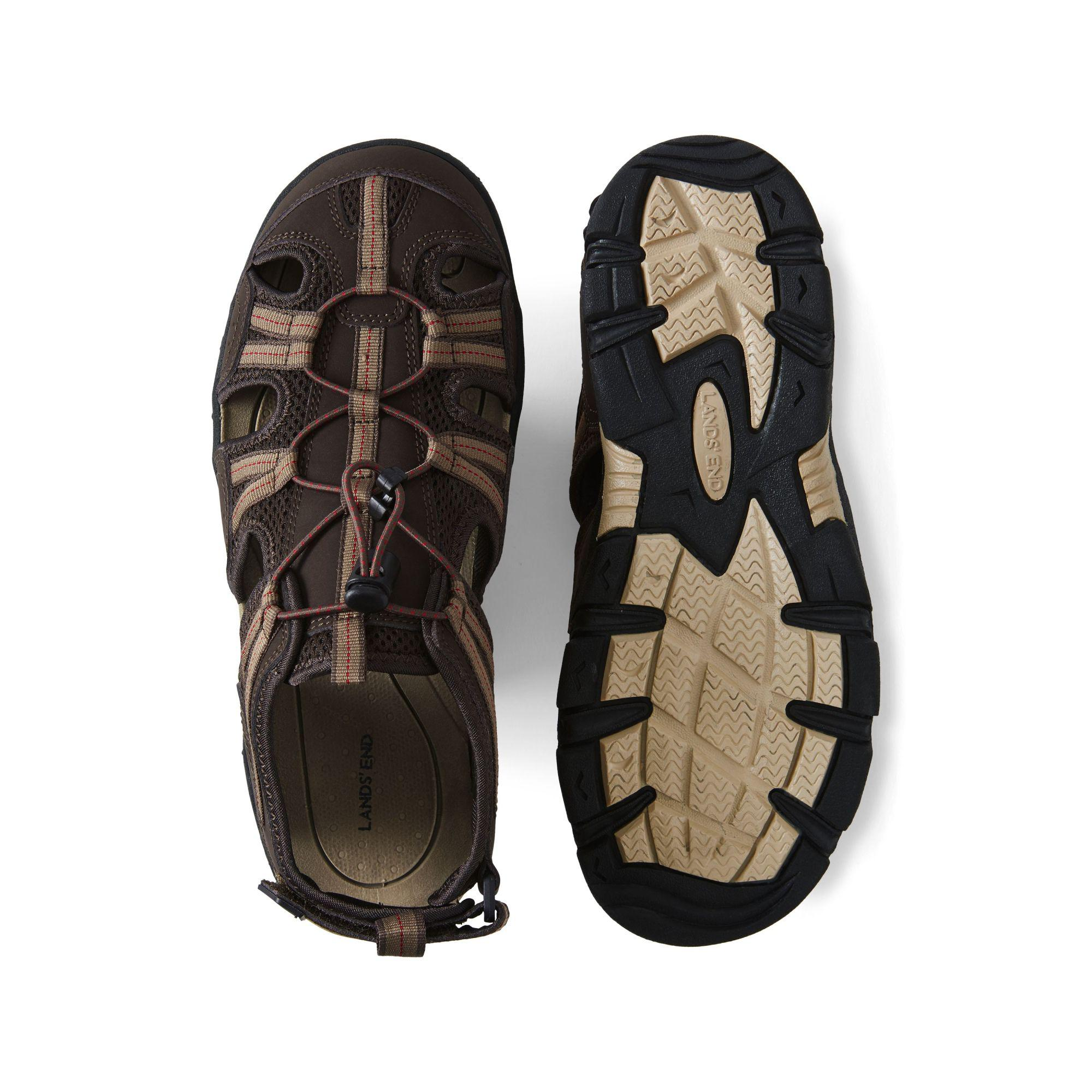 4ad3369280b4 Lands  End - Brown Wide Water Sandals for Men - Lyst. View fullscreen