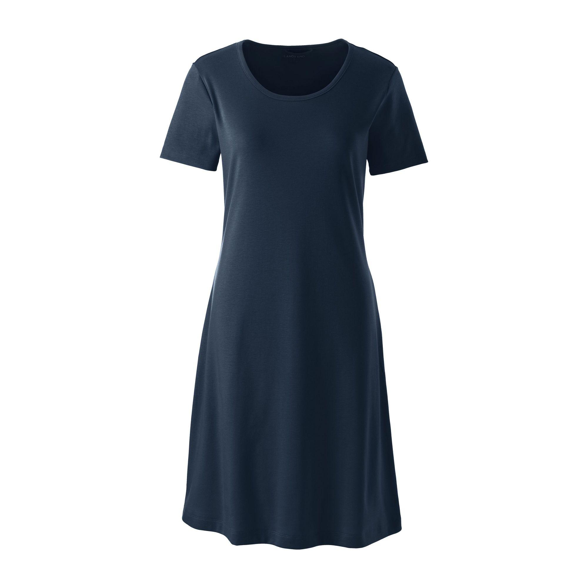 Lands  End - Blue Petite Supima Nightdress - Lyst. View fullscreen 96d75fd02
