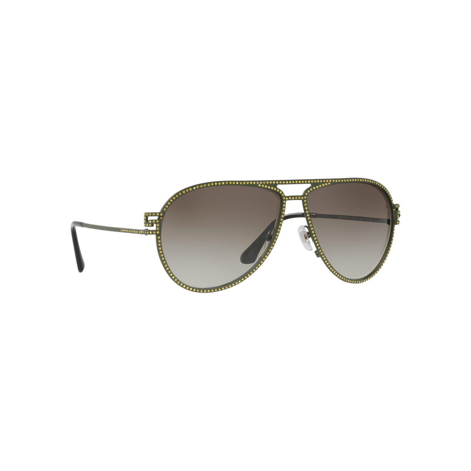 3411d02d3a4e Versace Matte Green Ve2171b Pilot Sunglasses in Green - Lyst