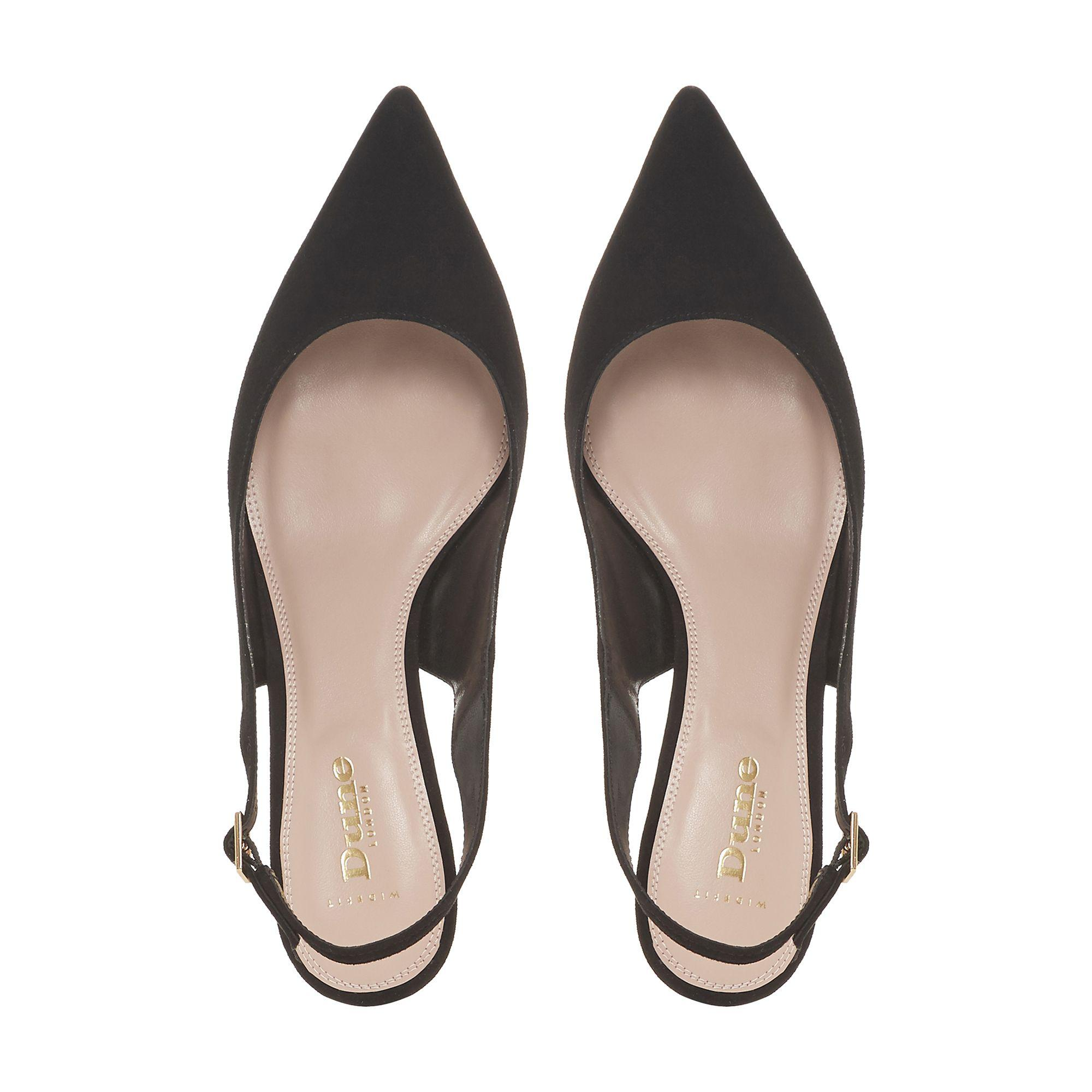 11dc8499374 Dune Casandra Kitten Heel Slingback Court Shoes in Black - Lyst