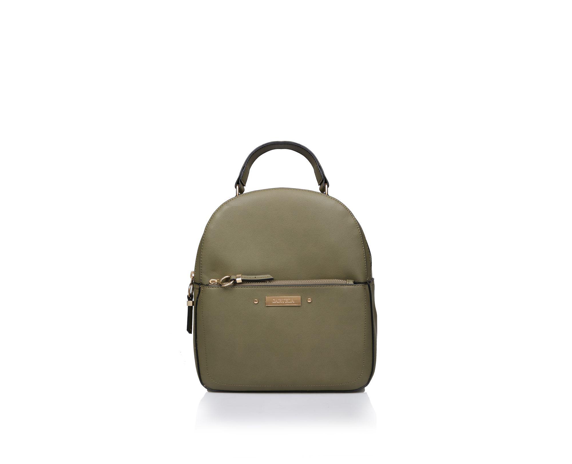 Carvela Kurt Geiger. Women s Brown Khaki  blake Zip Front Backpack  Backpack  Bag d2ab5e4e62