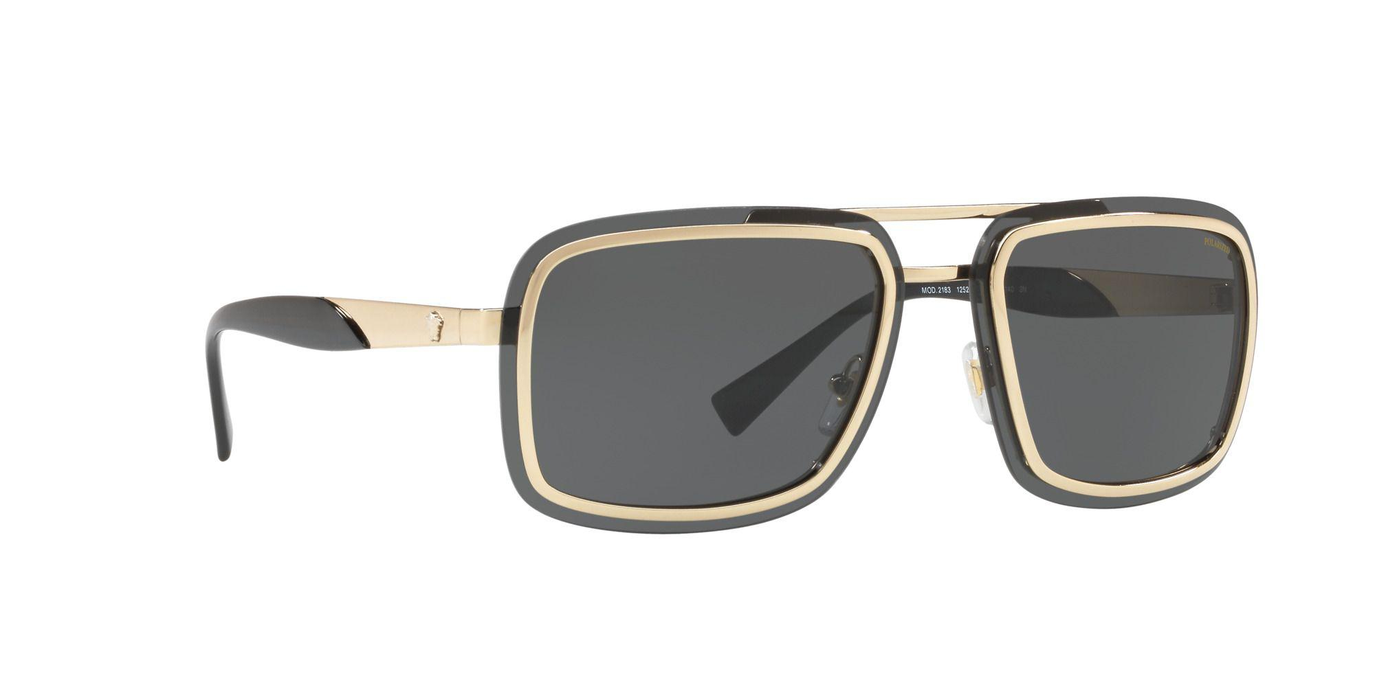 38e7f00fe013 Versace - Metallic Gold Ve2183 Square Sunglasses for Men - Lyst. View  fullscreen