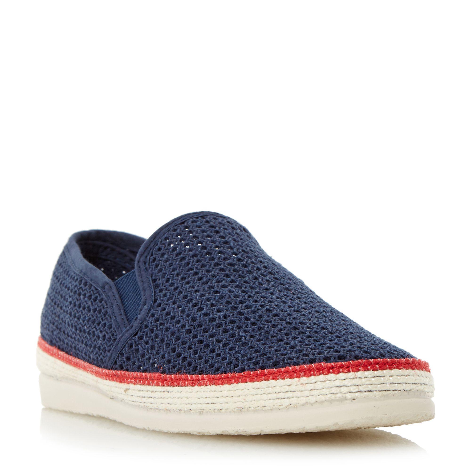 fae7e4352 Bertie Navy 'fresh' Mesh Detail Espadrille Shoe in Blue for Men - Lyst