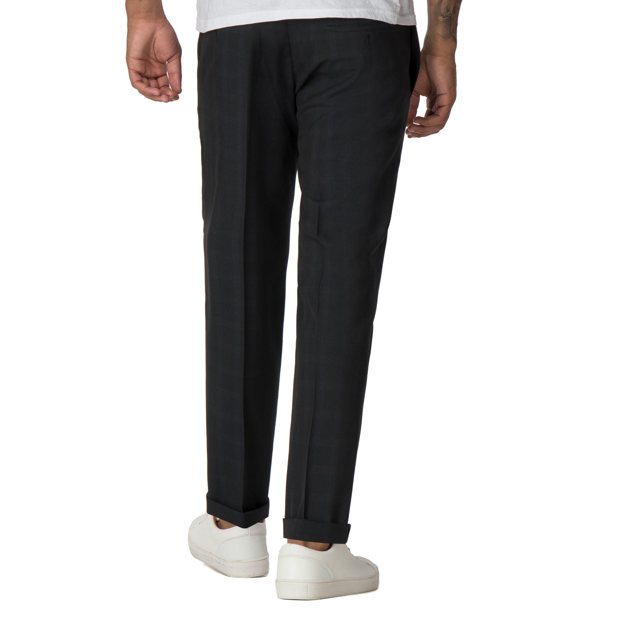 8e8ac57dd67d6c Red Herring - Blue Navy Check Slim Fit Formal Trousers for Men - Lyst. View  fullscreen