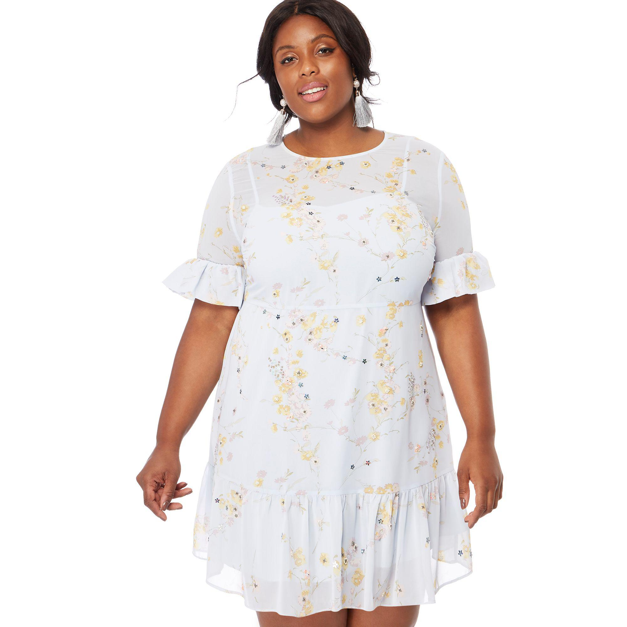 c13ee2a10ad5 White Dress With Sleeves Knee Length Plus Size - PostParc