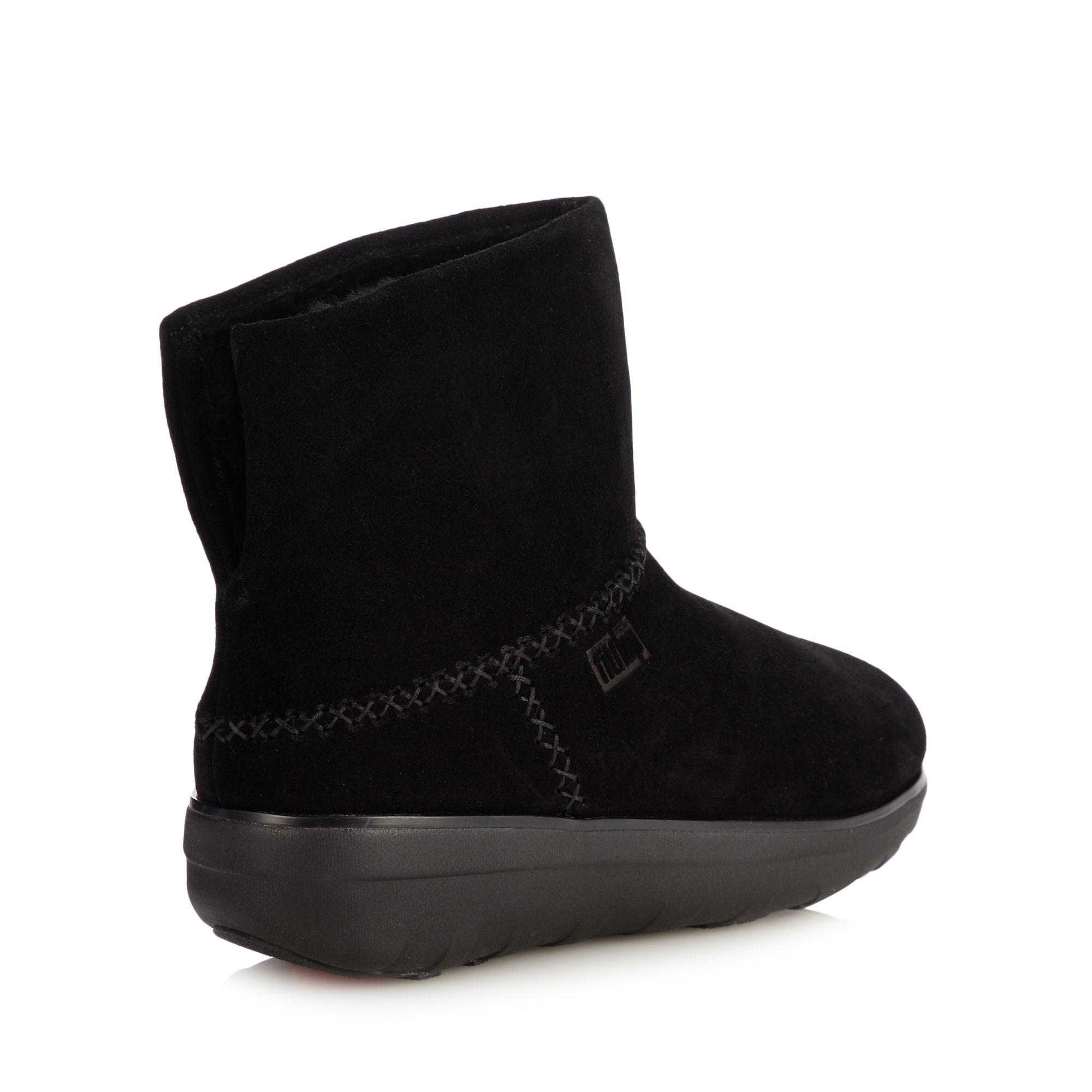 646ee0527f470d Fitflop - Black Suede  mukluk Shorty Ii  Ankle Boots - Lyst. View fullscreen