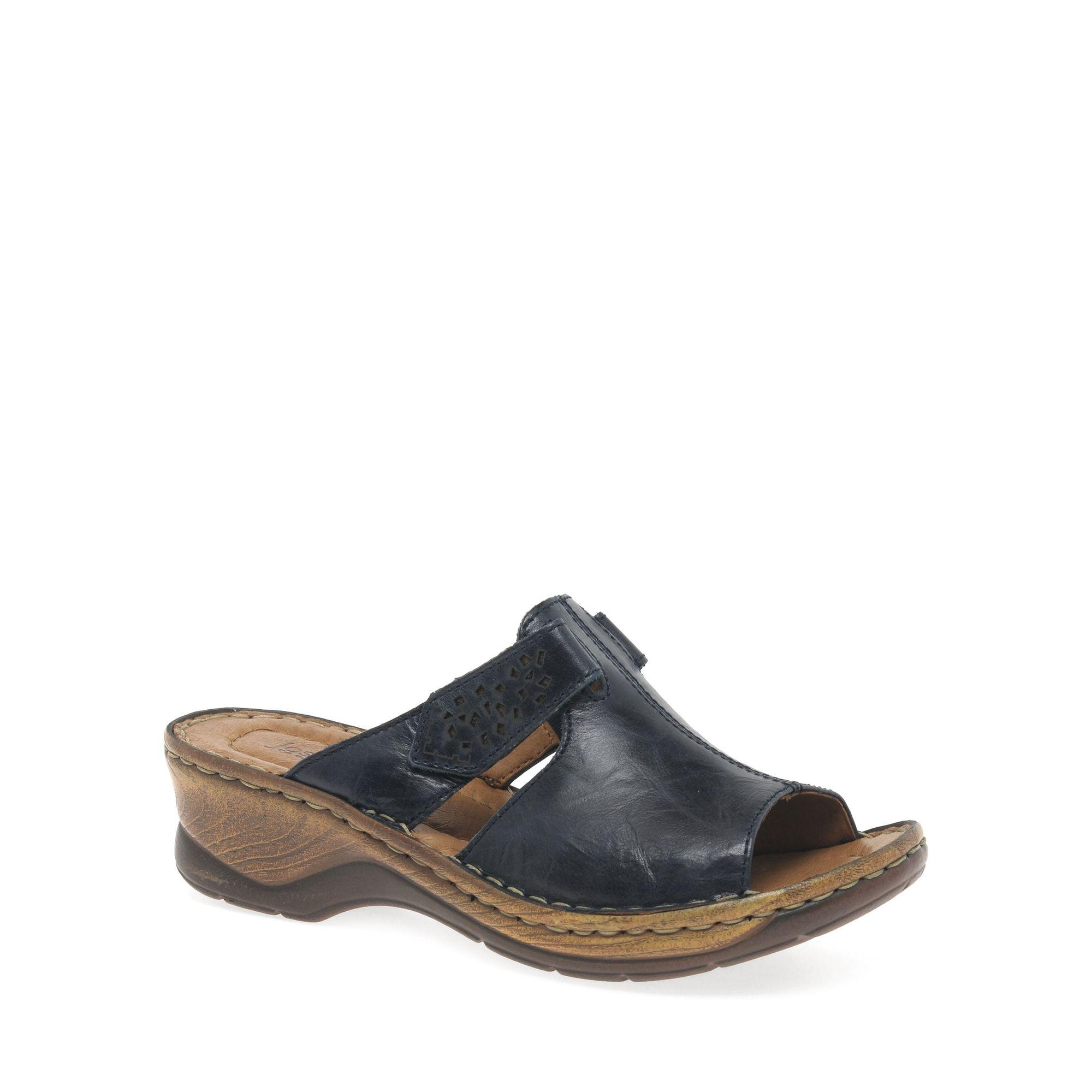 8682f37326137 Josef Seibel Navy  catalonia  Womens Velcro Fastening Sandals in ...
