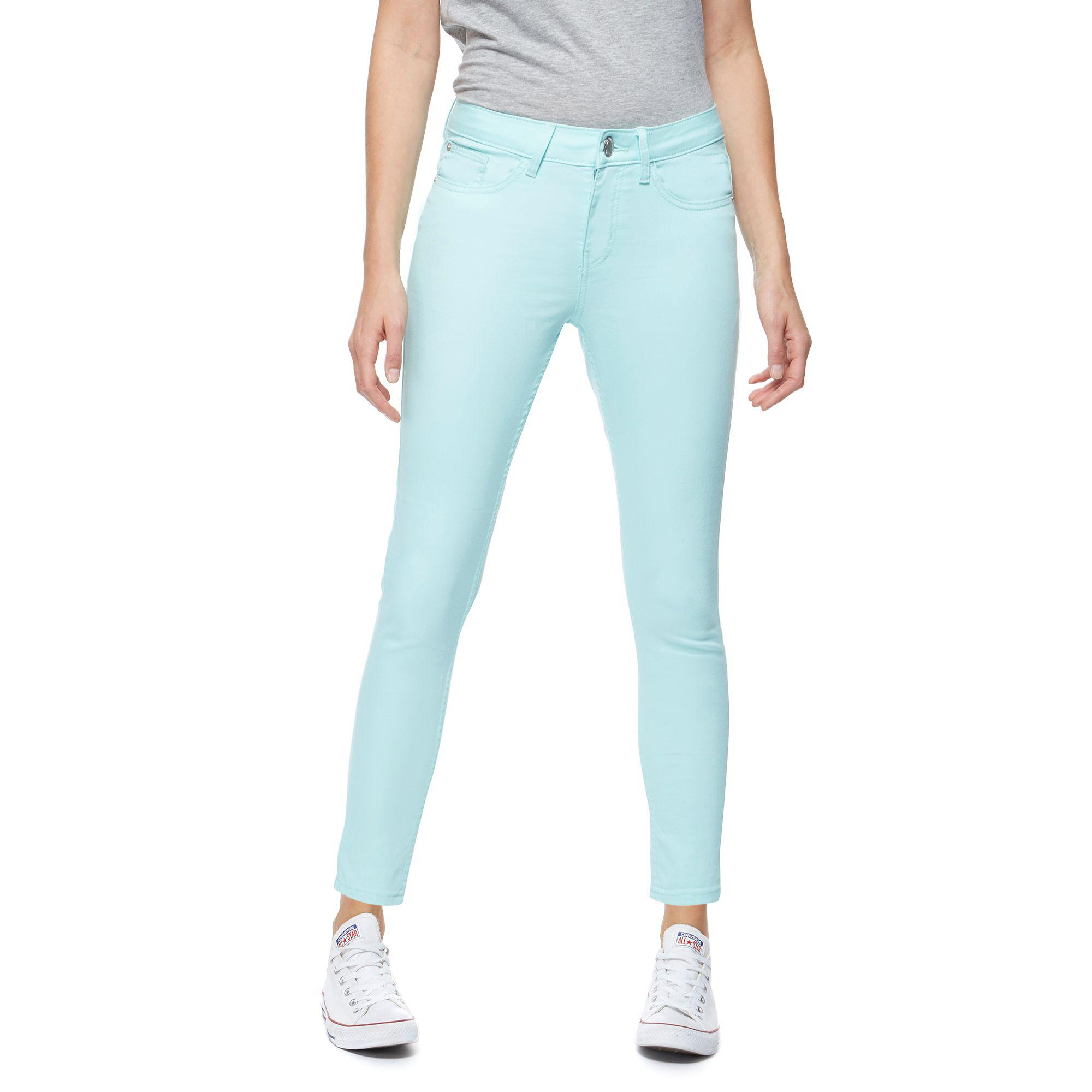 8276b2b9720 Red Herring Womens Pale Green Holly Super Skinny Ankle Grazer Jeans