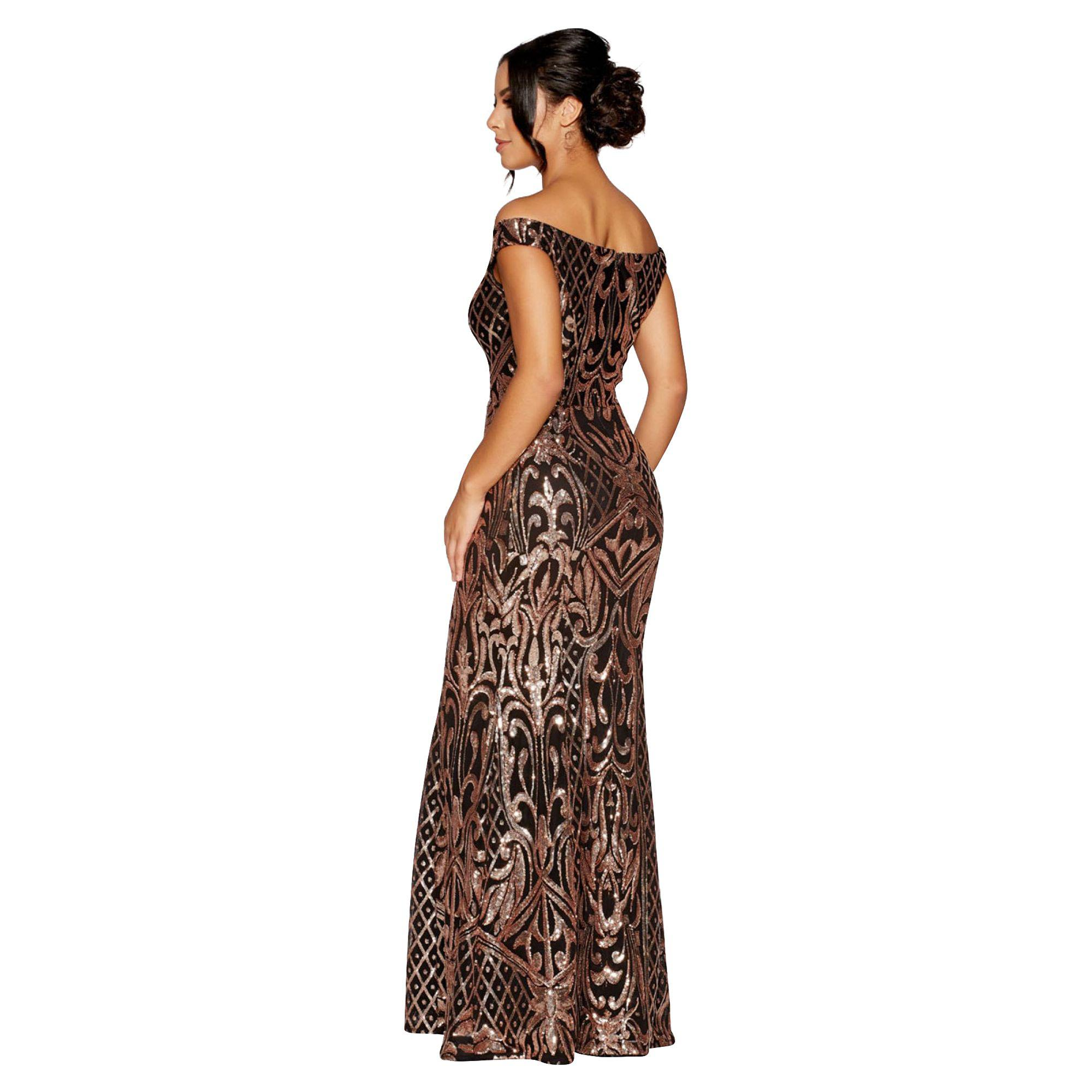 4d36ff9ff7 Black And Gold Sequin Fishtail Maxi Dress Quiz - Gomes Weine AG