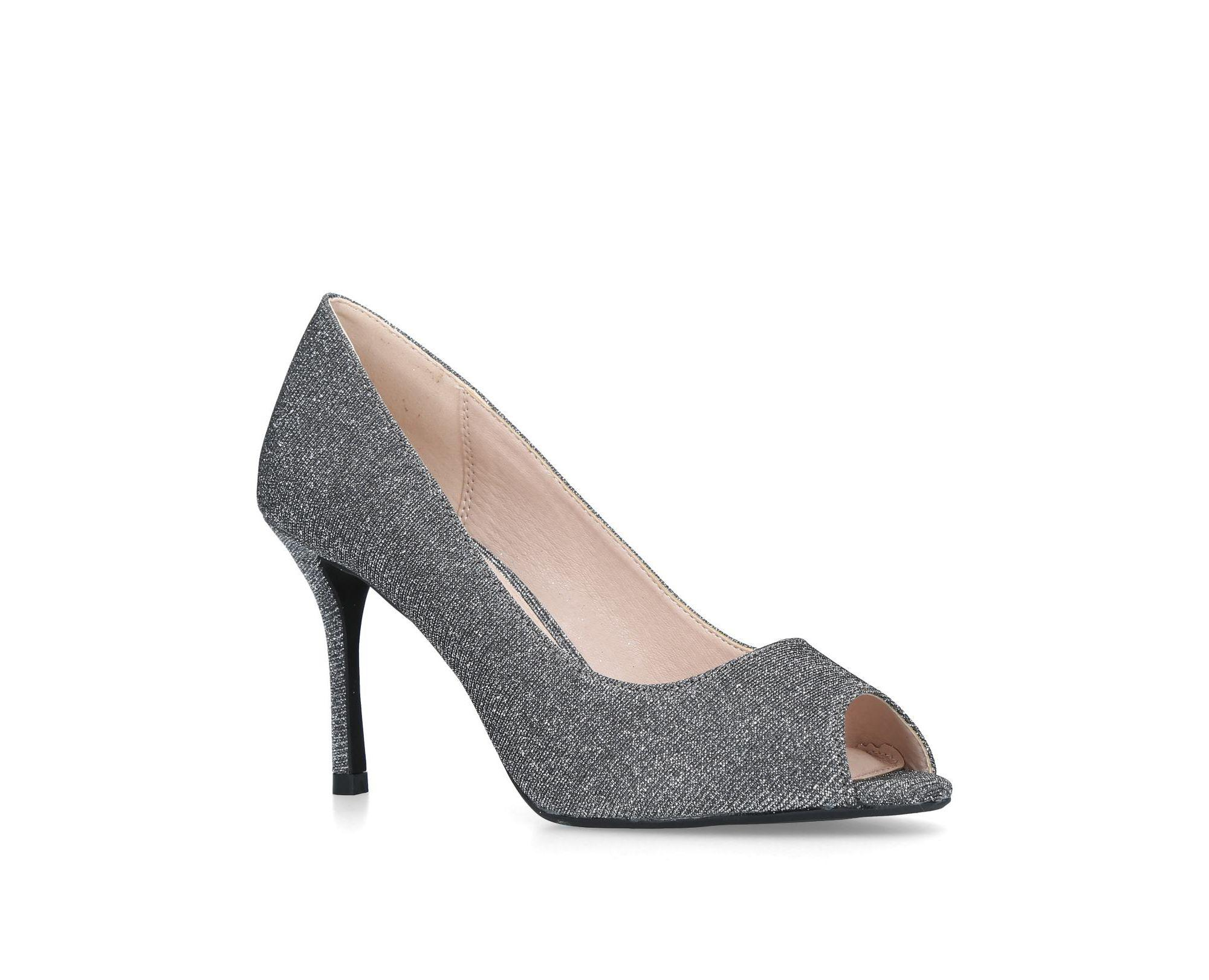 5532c53e1dc Miss Kg Pewter  cooper  Mid Heel Court Shoes in Gray - Lyst