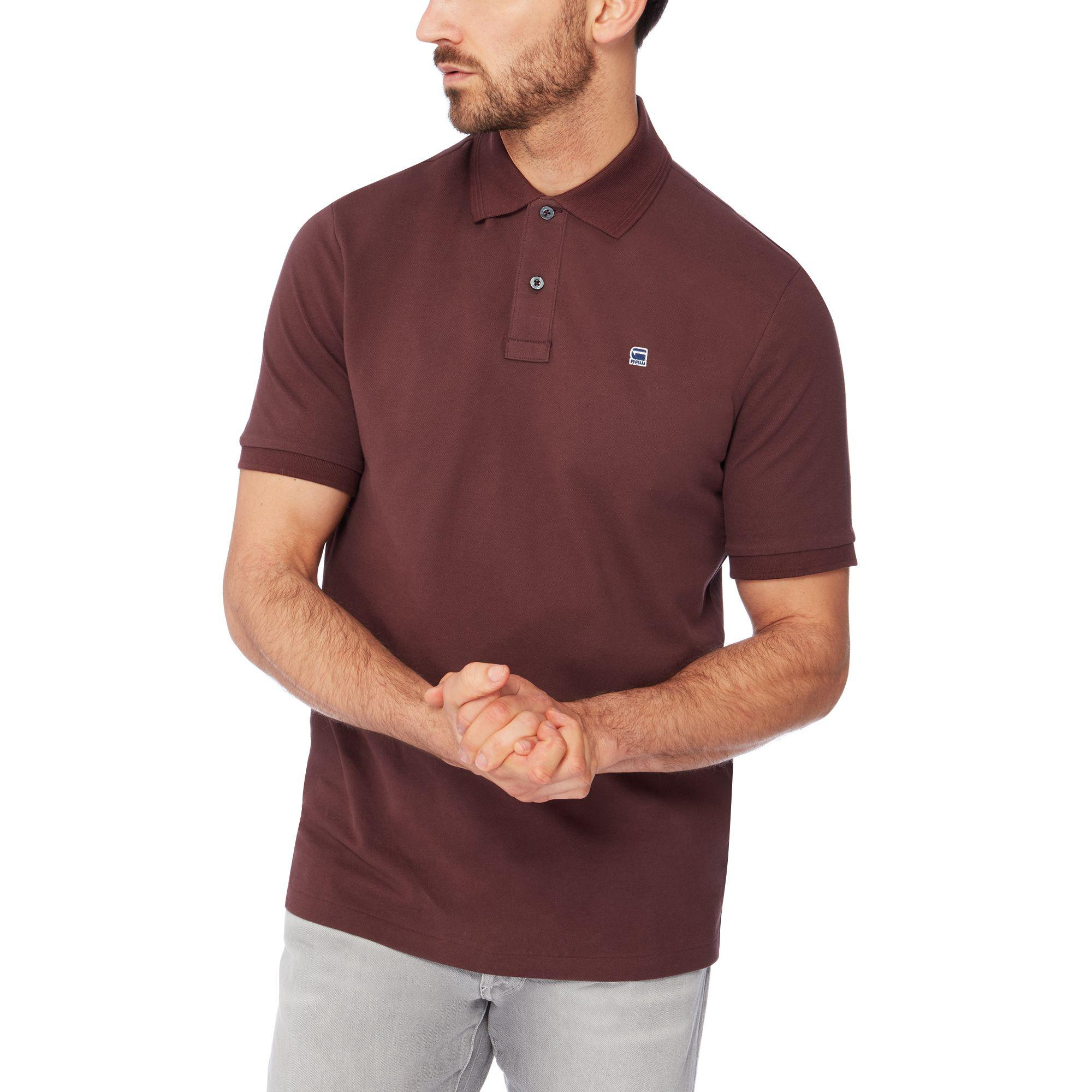 G-Star Raw Maroon Logo Detail Polo Shirt in Purple for Men - Lyst efa41eadfb3