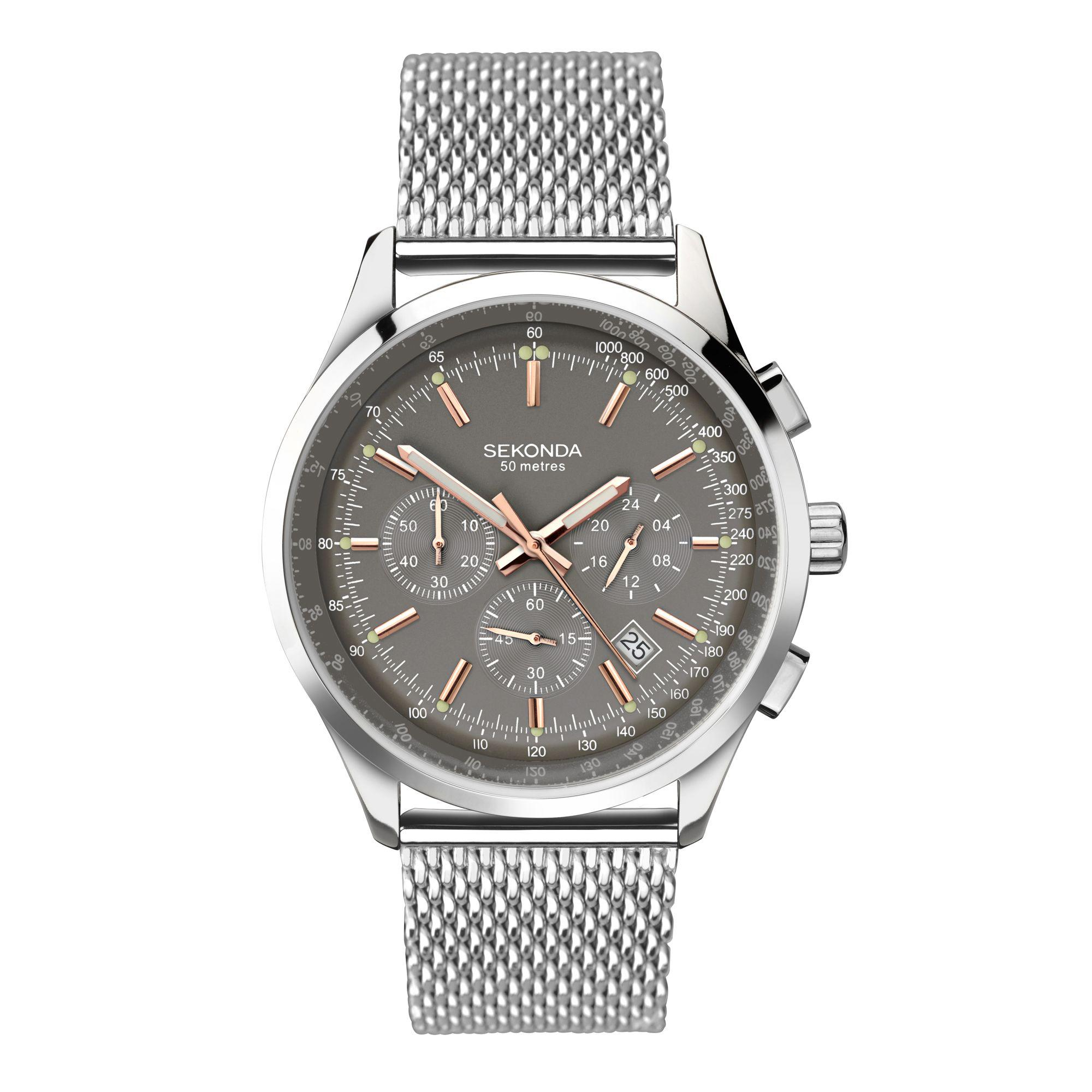 216a5c8138 Sekonda Men's Silver Chronograph Bracelet Watch 1490.28 in Metallic ...