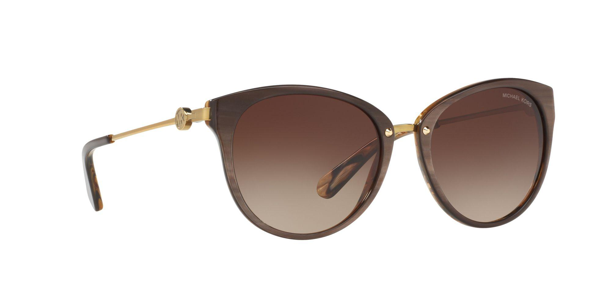 b596fbbe8ad5a Michael Kors - Brown Bronze Round  abela Iii  Sunglasses - Lyst. View  fullscreen