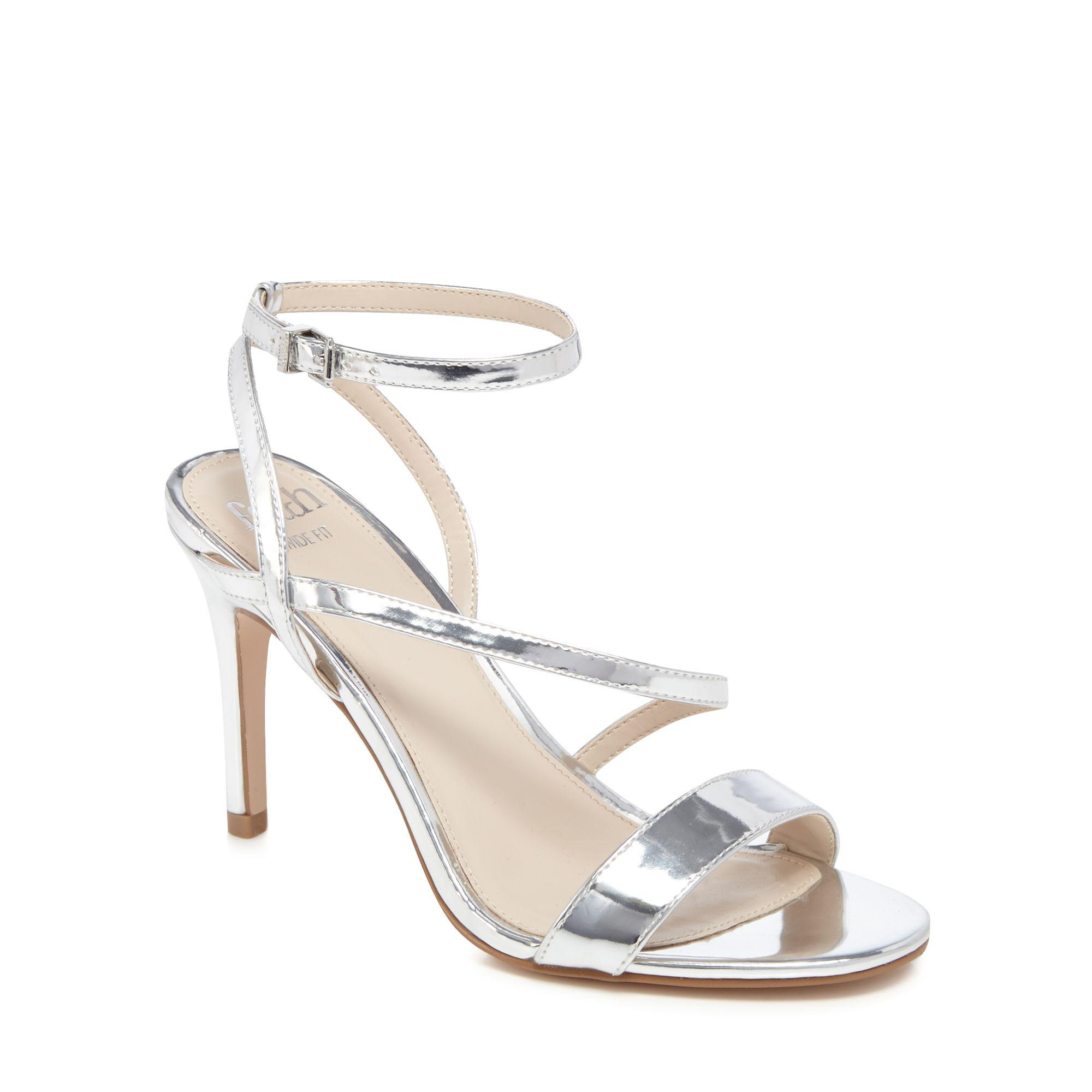 d7af21e1869 Faith - Metallic Silver  delly  High Heel Wide Fit Ankle Strap Sandals -  Lyst. View fullscreen