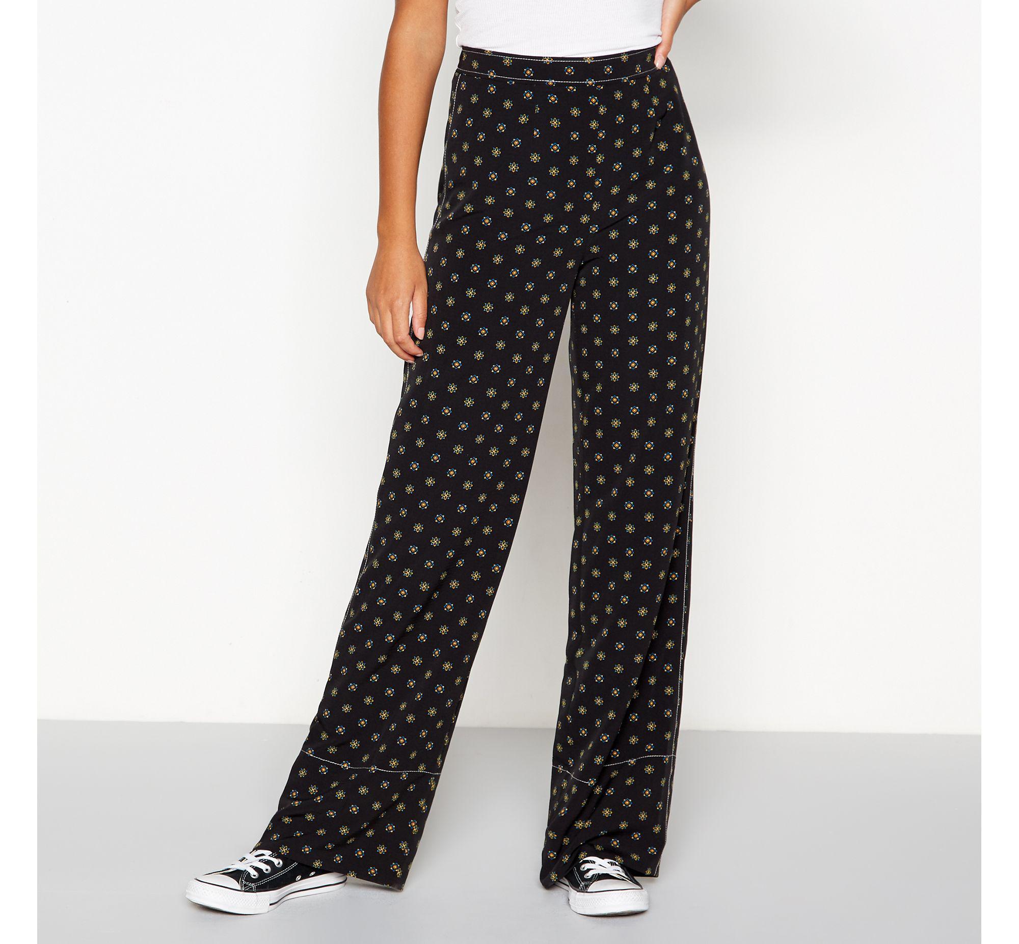 e1d71d9bc1483 Red Herring Black Tile Print Trousers in Black - Lyst