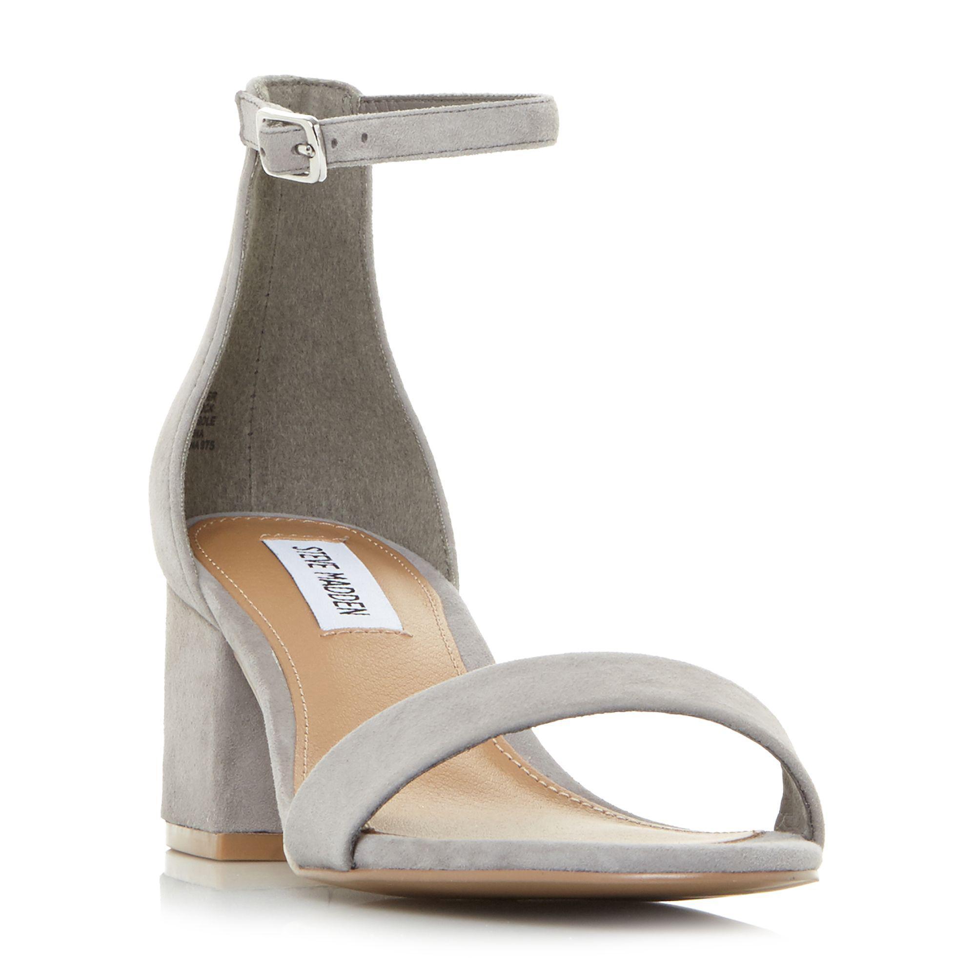312b94d406f Steve Madden. Women s Gray Grey Suede  new Irenee  Mid Block Heel ...