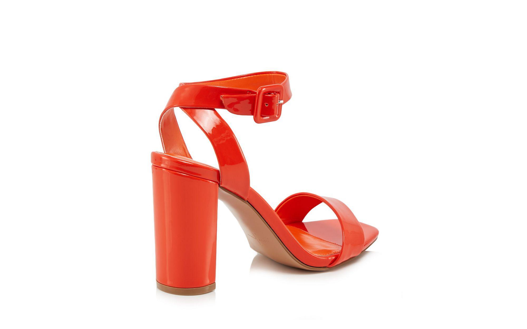 08802b17f3dece J By Jasper Conran Orange Patent  jessica  High Block Heel Ankle ...