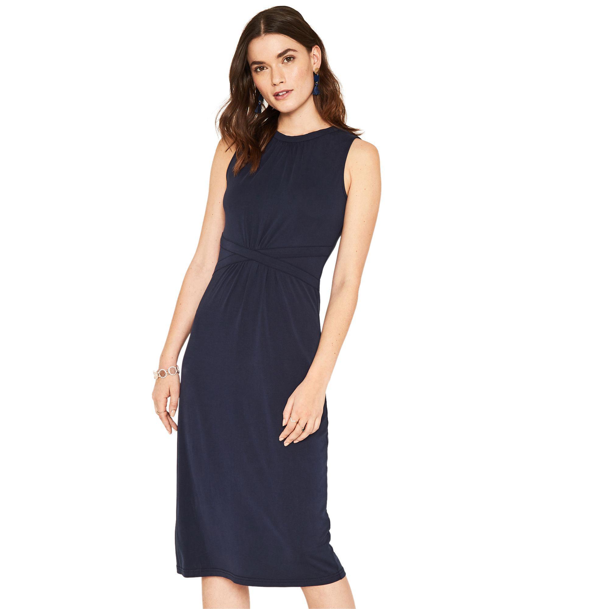 22ea106dcd76 Oasis Navy Grecian Midi Dress in Blue - Lyst