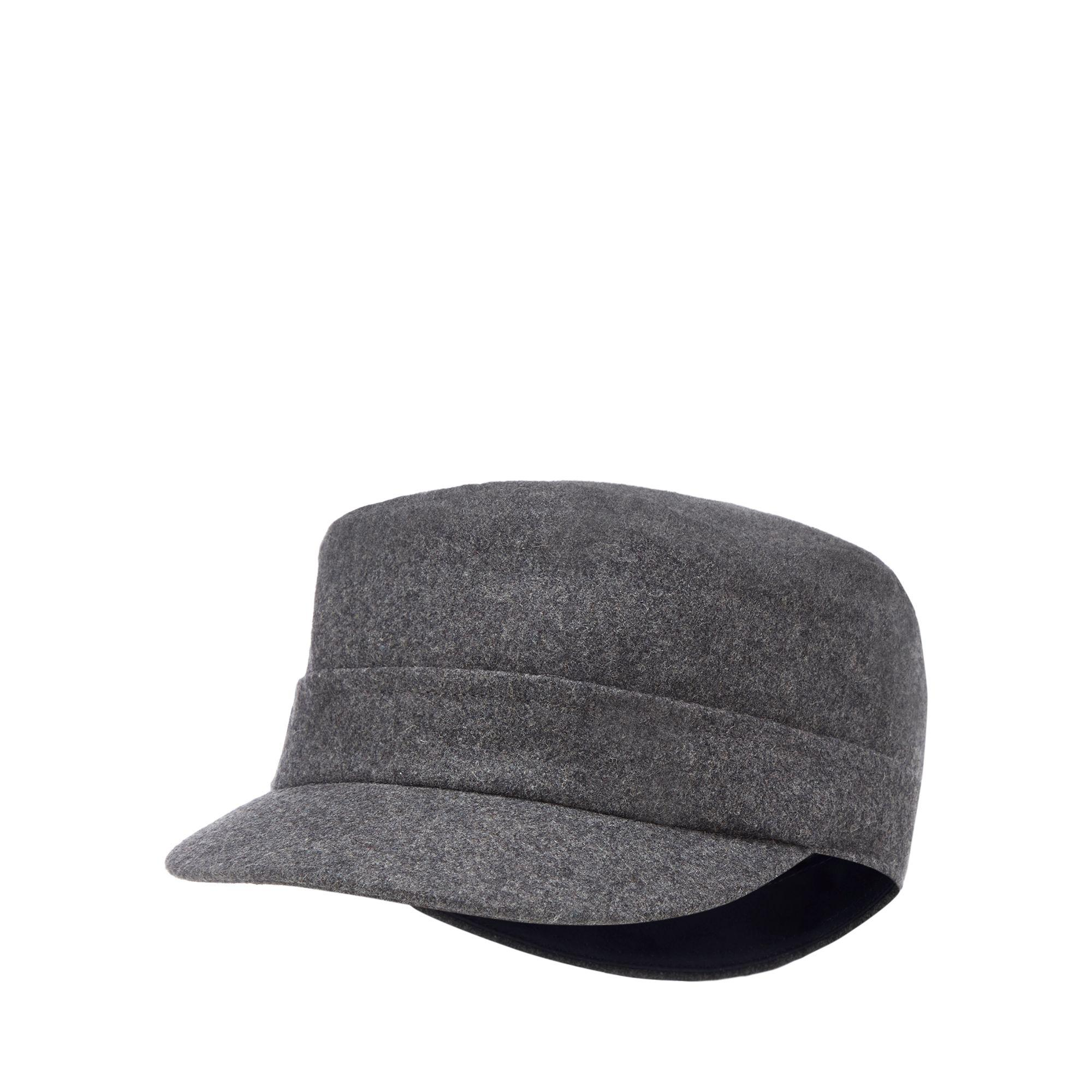 e647b3d6 J By Jasper Conran Grey Train Driver Hat With Wool in Gray for Men ...
