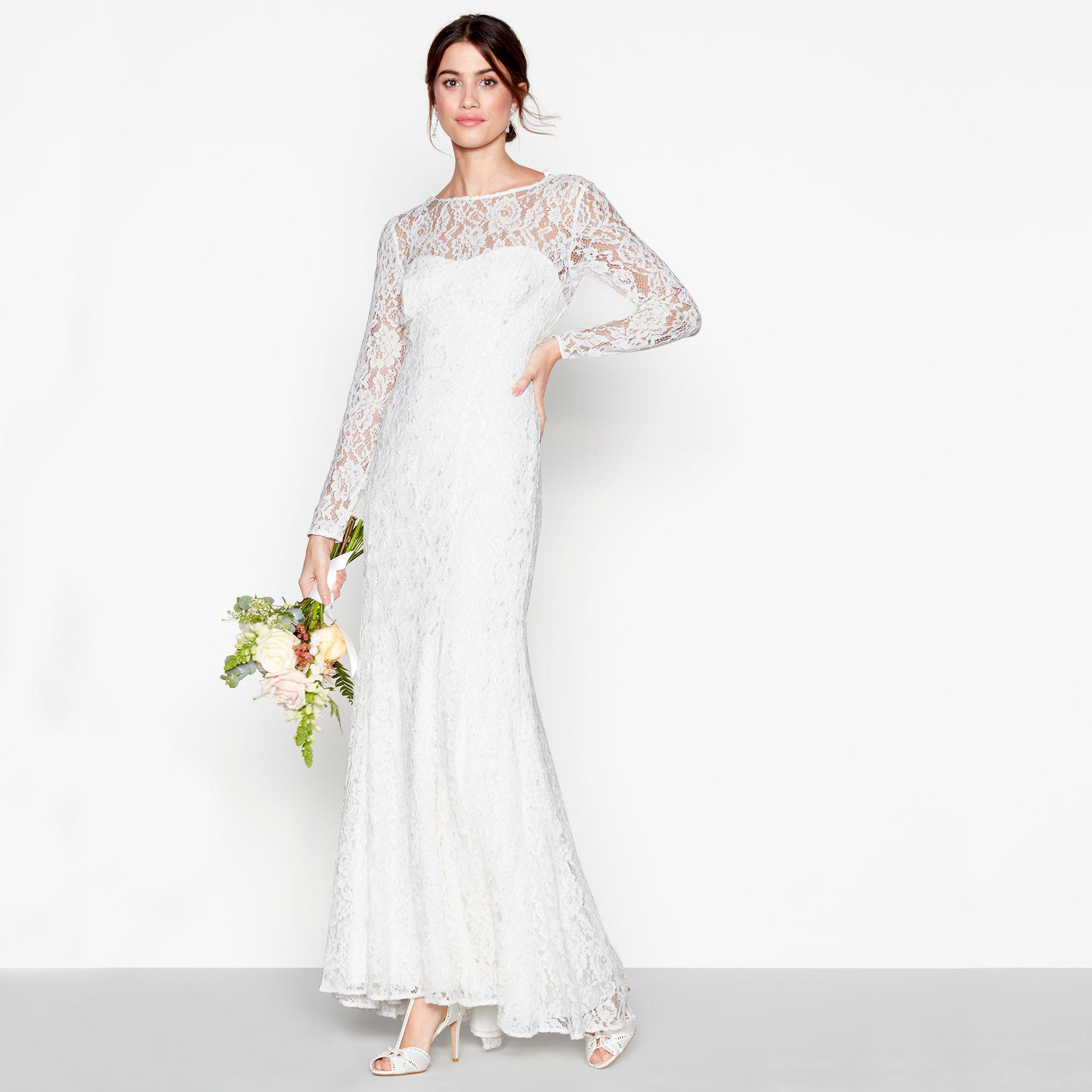 80b6e9b85c0a ... High Neck Long Sleeves Full Length Wedding Dress. Visit Debenhams. Tap  to visit site