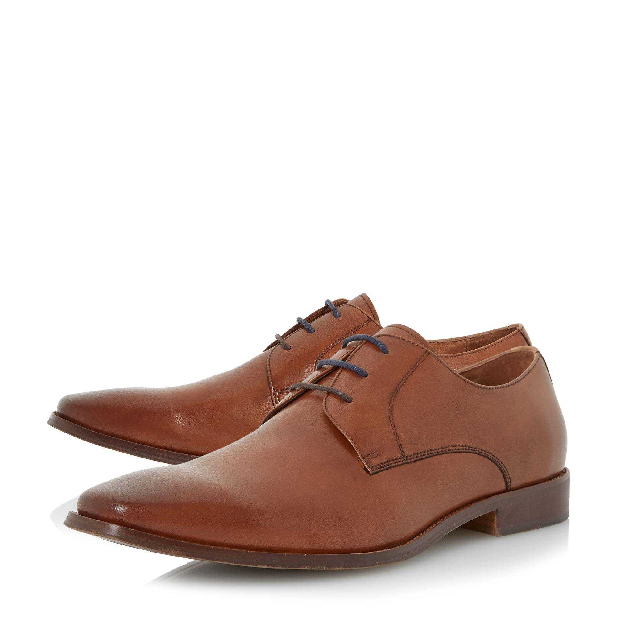 clearance high quality Tan 'Wrichmonds' wide fit square toe derby shoe discount price qitVMP3zbx