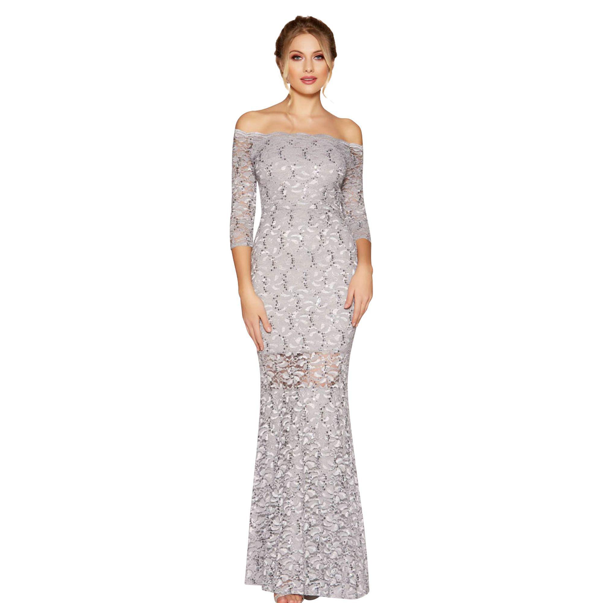 5f63b831d1 Quiz Black And Rose Gold Sequin Bardot Maxi Dress - Data Dynamic AG