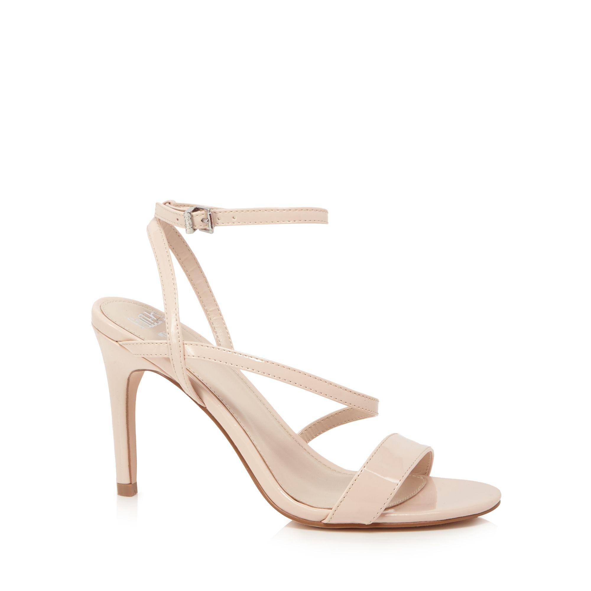 7984216605e1 Faith - Natural  delly  High Heel Wide Fit Ankle Strap Sandals - Lyst. View  fullscreen