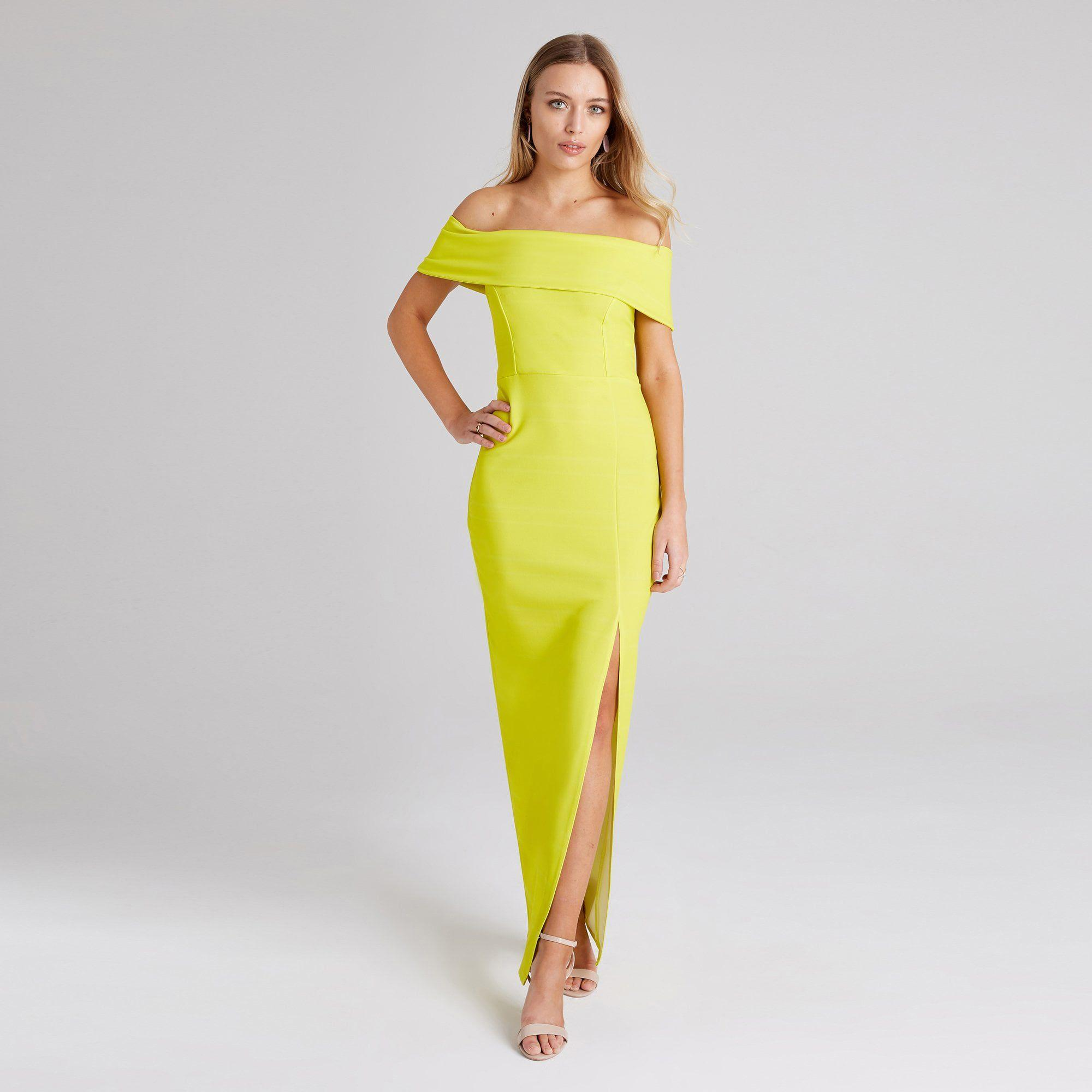 9bf1002f02d5 Girls On Film Yellow Alva Bardot Maxi Dress in Yellow - Lyst