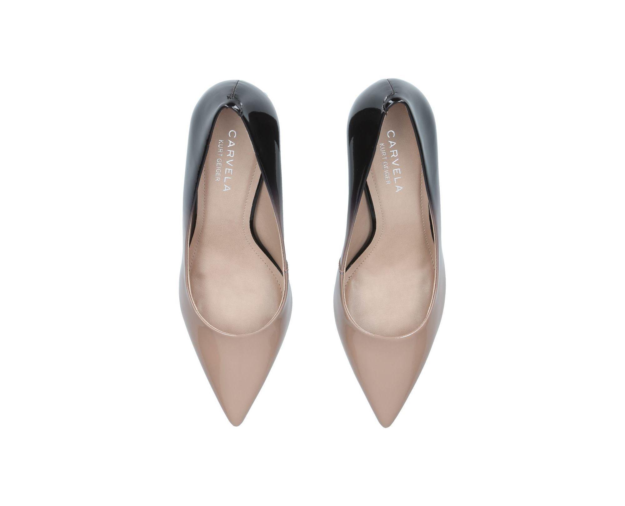 a17b4255ac79 Carvela Kurt Geiger Nude  albert  Block Heel Court Shoes in Natural ...