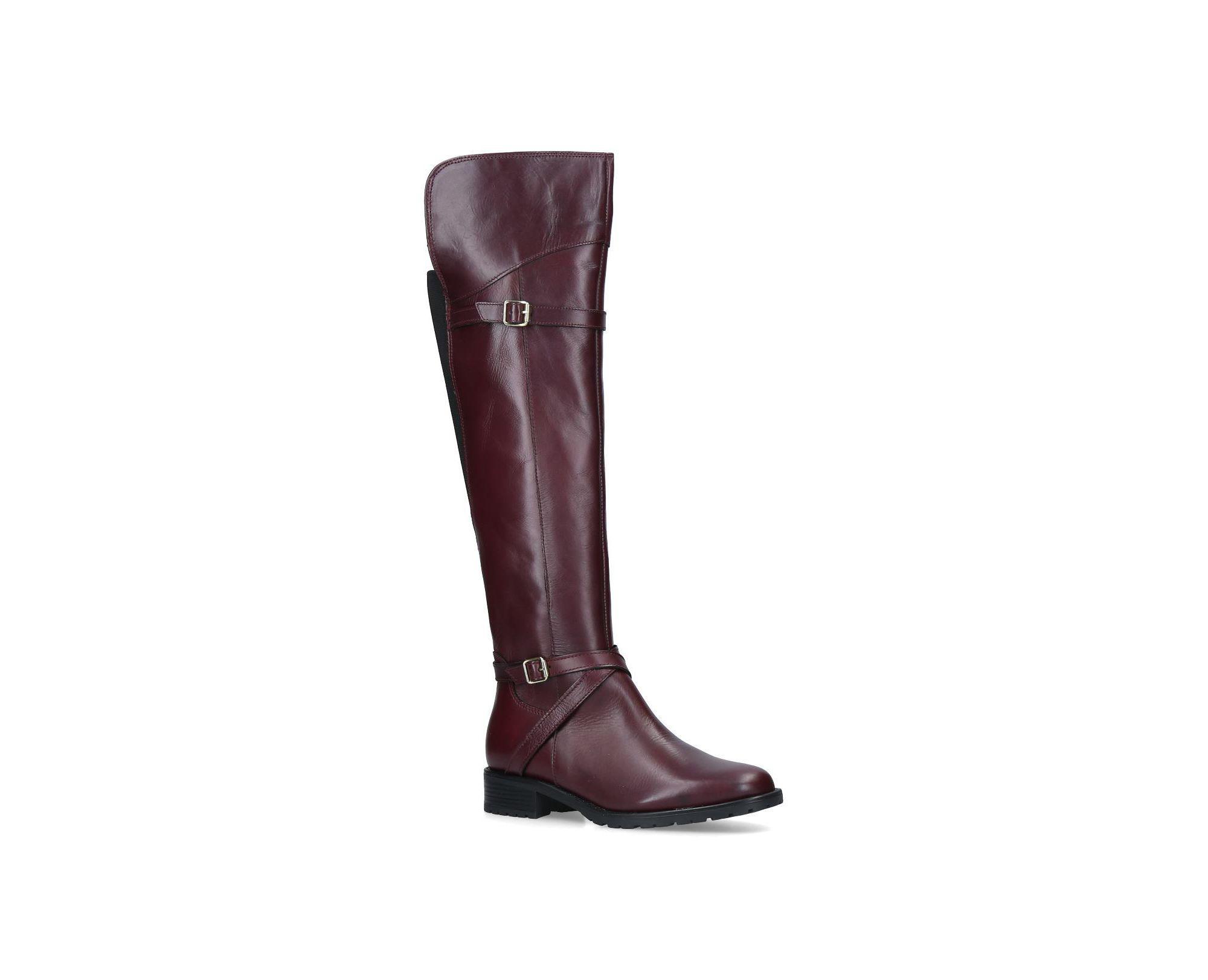 06f1bbf1da3 Carvela Kurt Geiger Wine  viv  Leather High Leg Boots in Red - Save ...